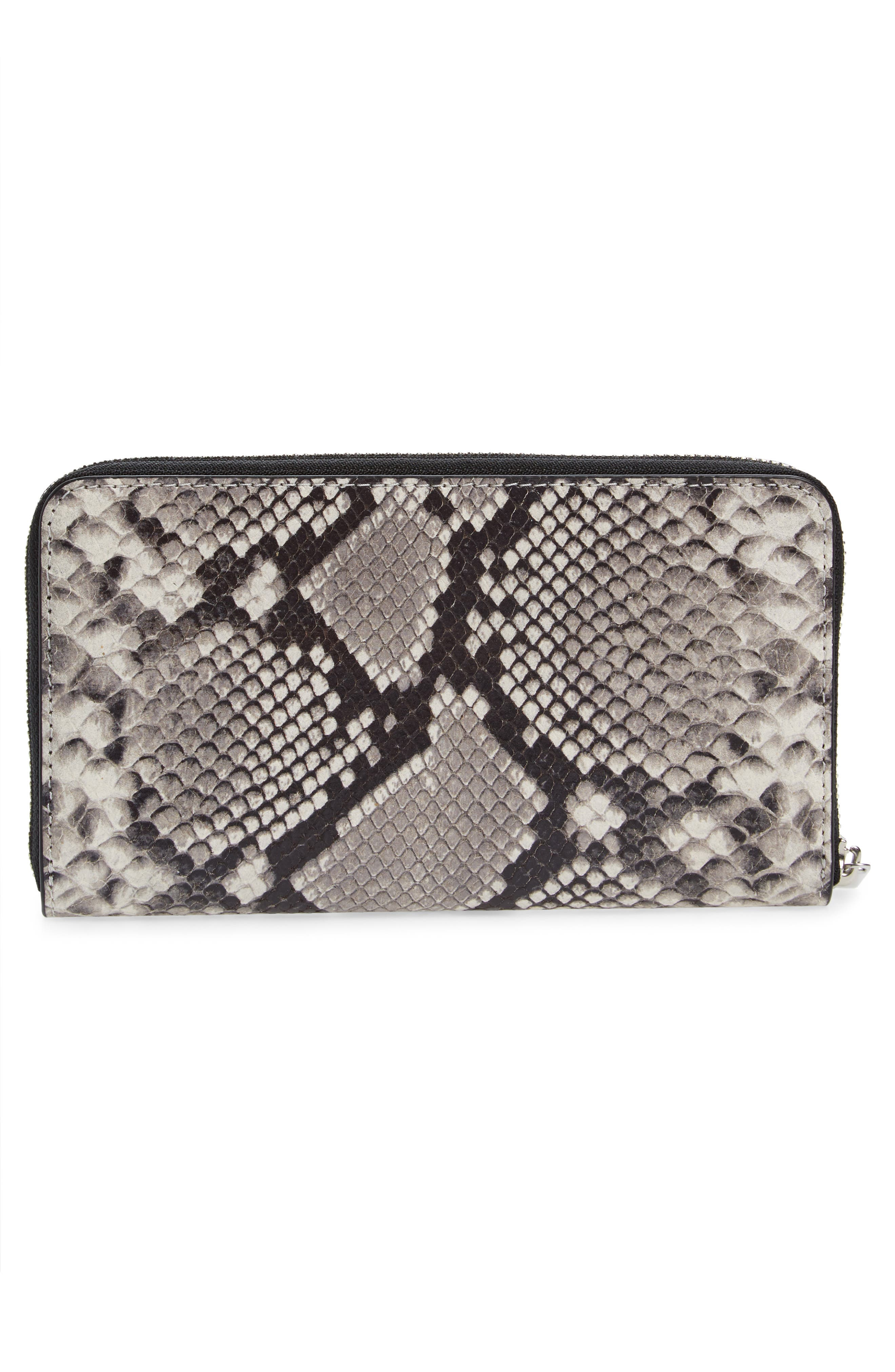 Robinson Leather Continental Wallet,                             Alternate thumbnail 3, color,                             001