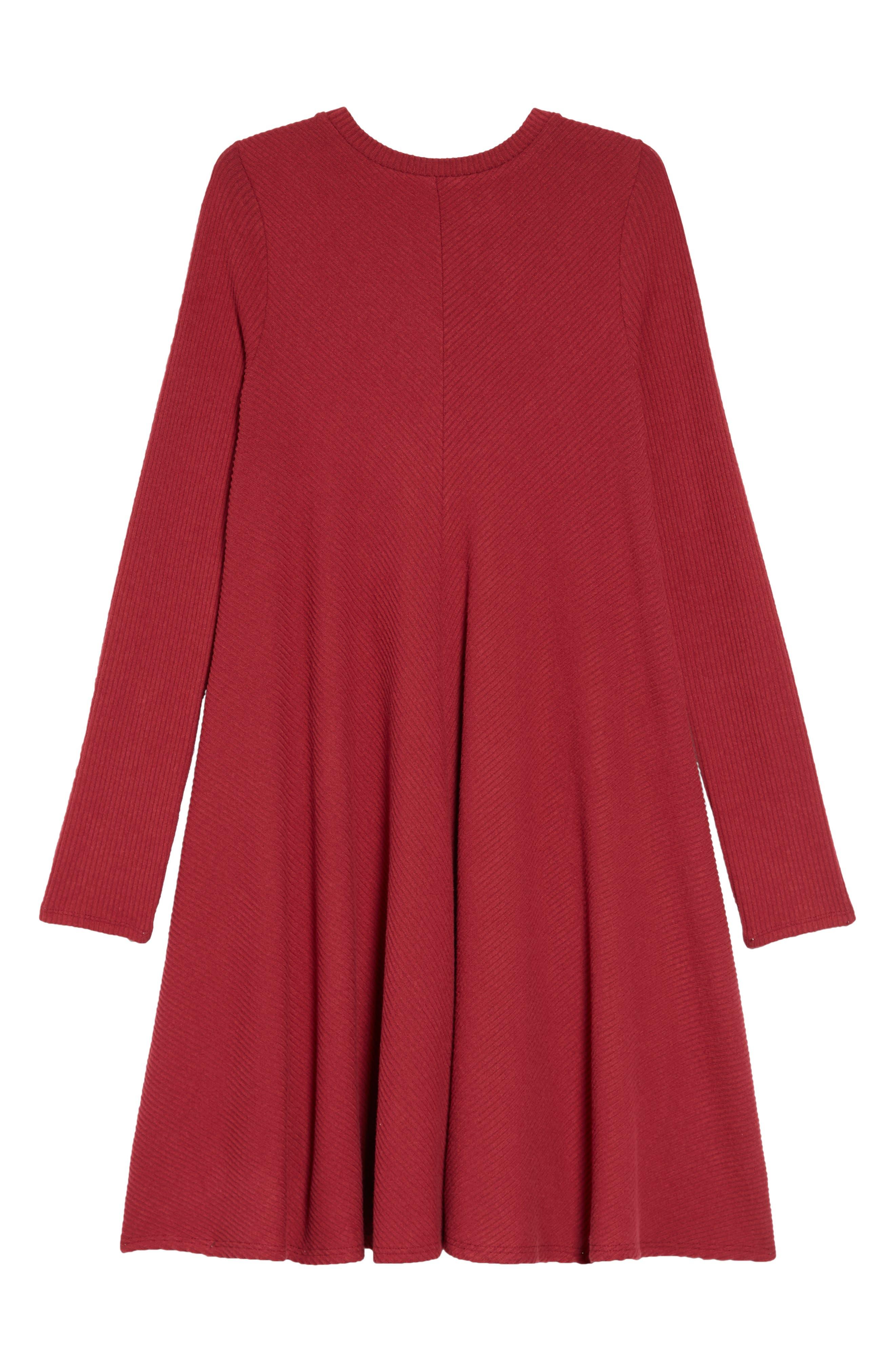 Tucker + Take Swing Dress,                         Main,                         color, RED TIBETAN