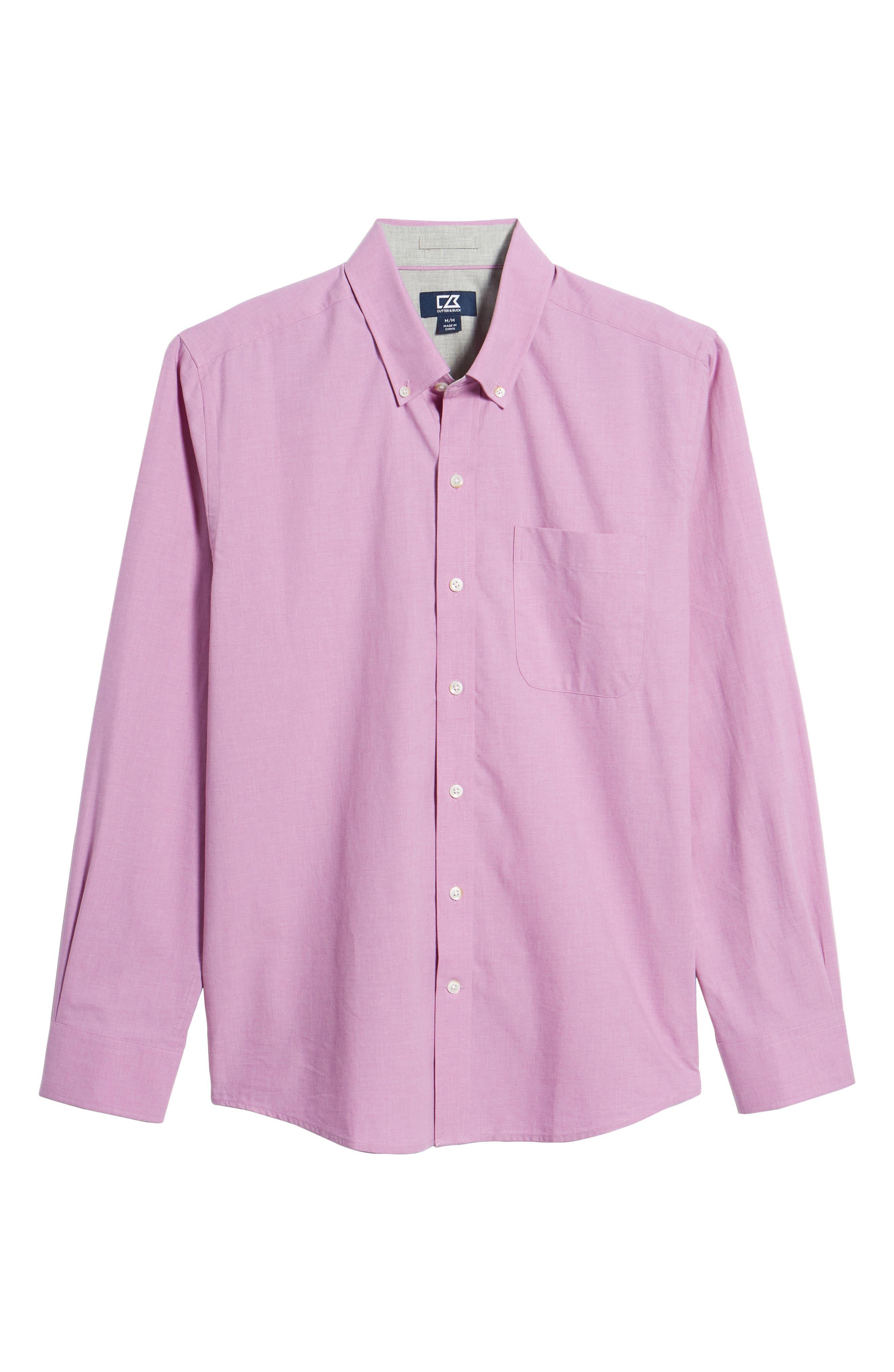 Heather Classic Fit No-Iron Sport Shirt,                             Alternate thumbnail 18, color,