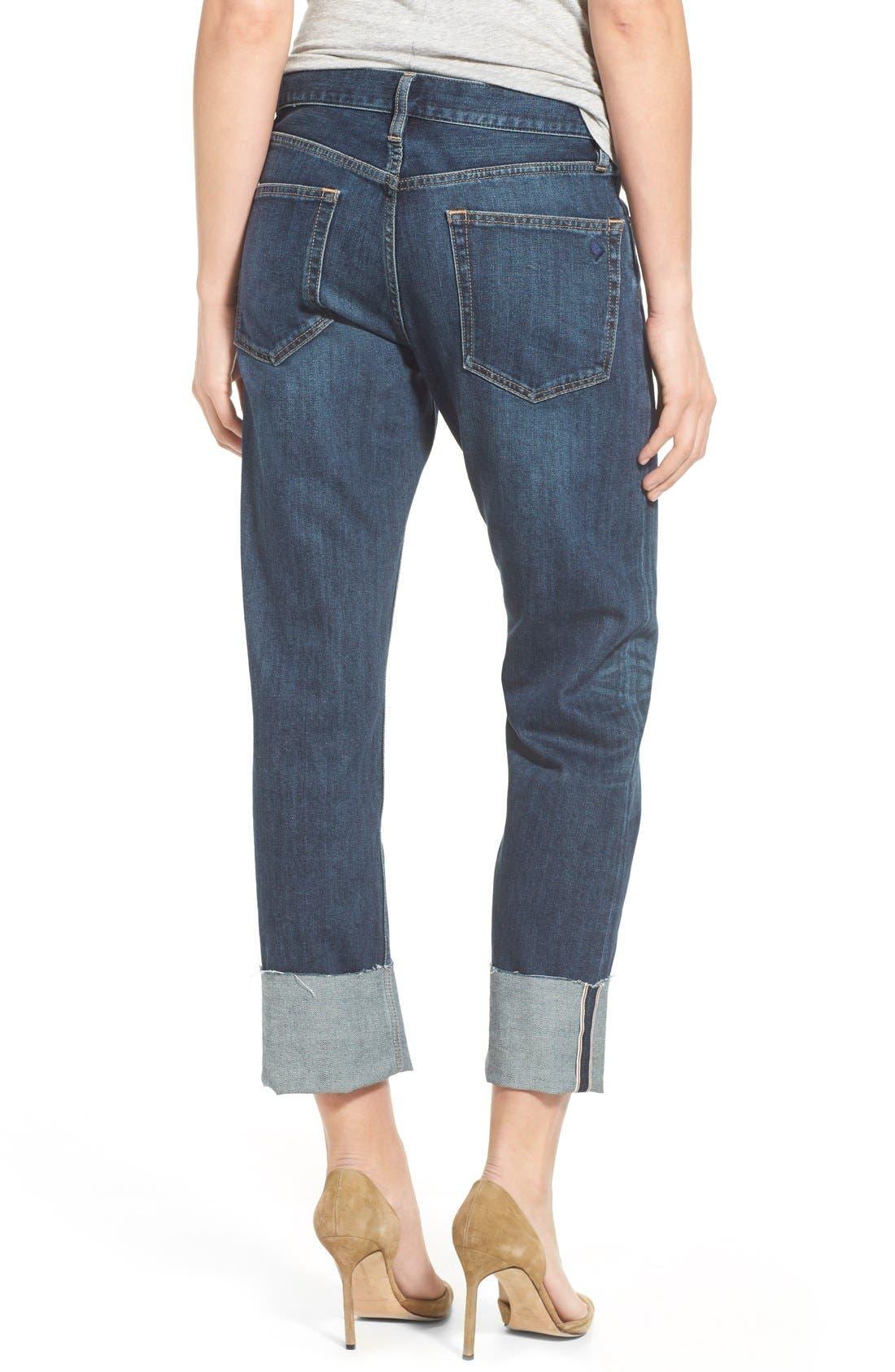 'Phoebe' Boyfriend Jeans,                             Alternate thumbnail 4, color,                             460