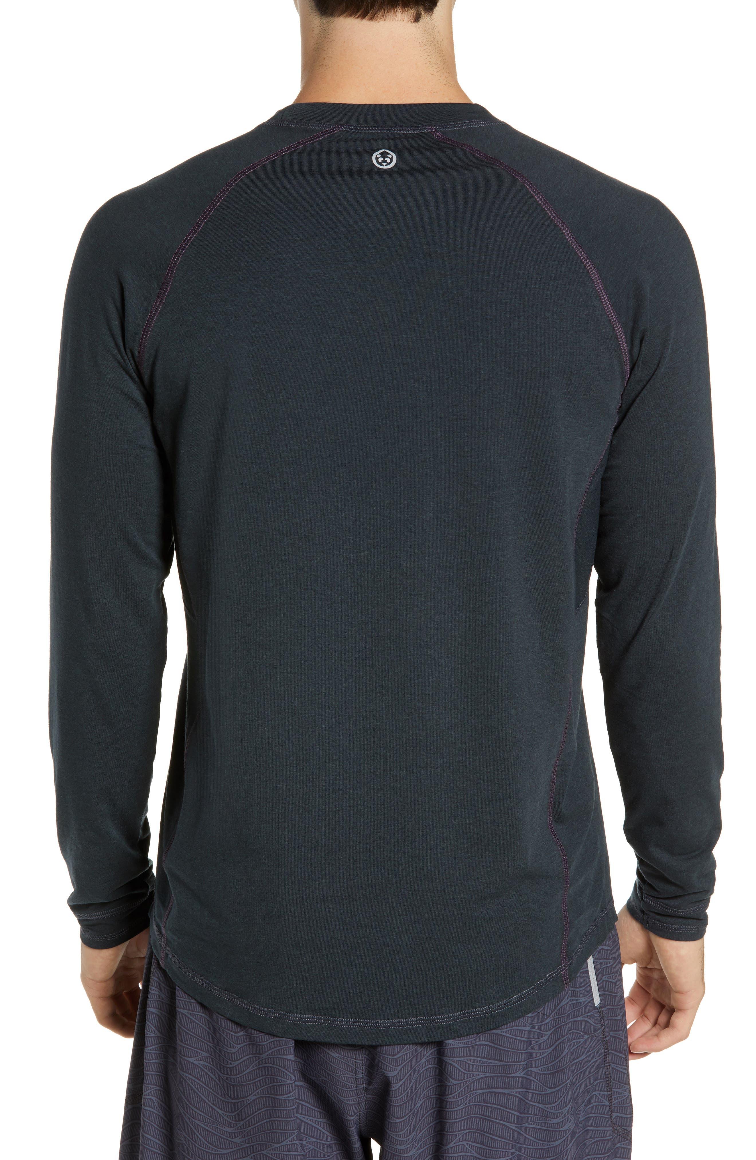 Charge II Long Sleeve T-Shirt,                             Alternate thumbnail 2, color,                             GUNMETAL/ ECLIPSE
