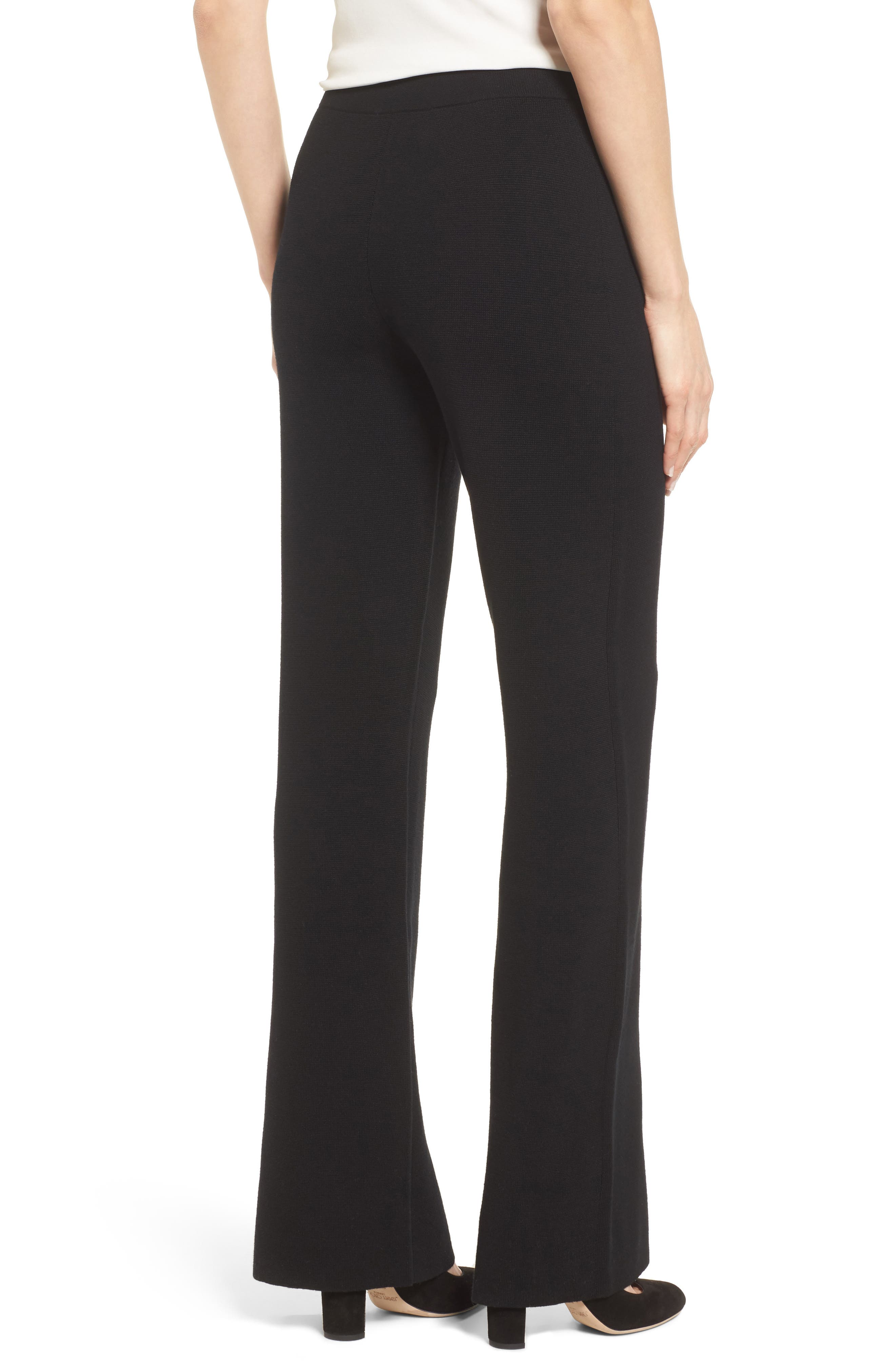 BOSS,                             Falali Wool Flare Leg Trousers,                             Alternate thumbnail 2, color,                             001