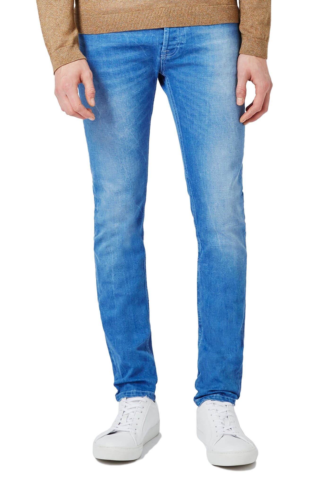 Stretch Skinny Fit Jeans,                             Main thumbnail 1, color,                             400