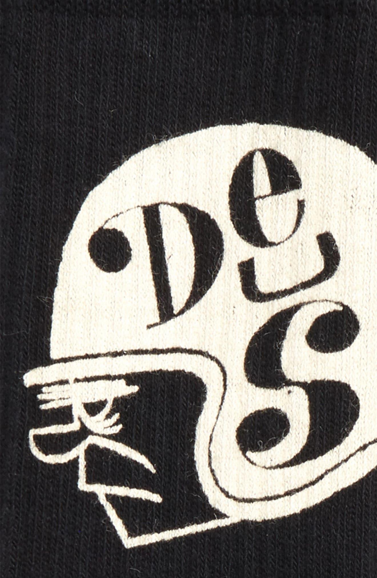 Tiger Eye Crew Socks,                             Alternate thumbnail 2, color,                             BLACK