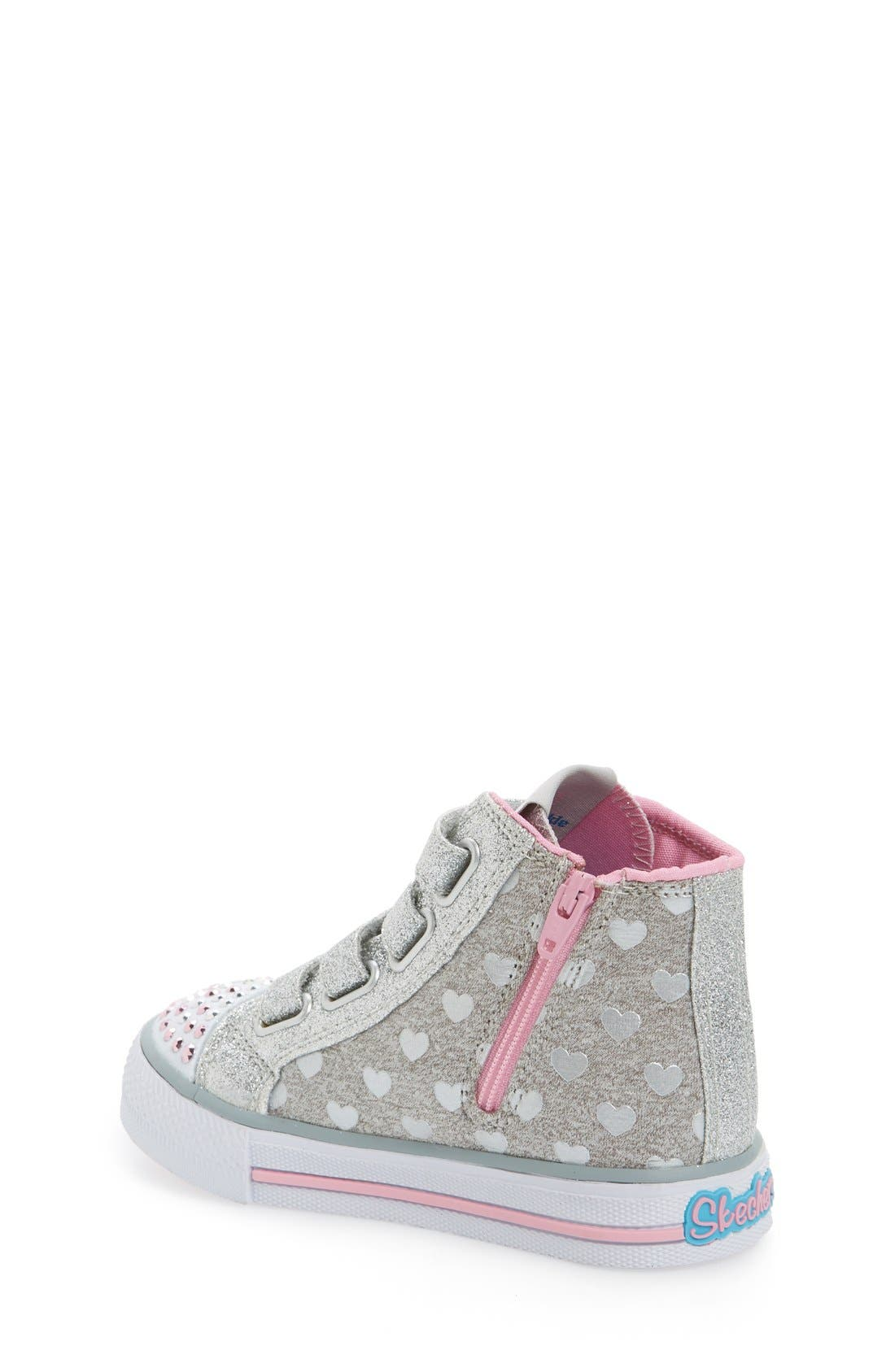 'Twinkle Toes - Shuffles' High Top Sneaker,                             Alternate thumbnail 4, color,                             596