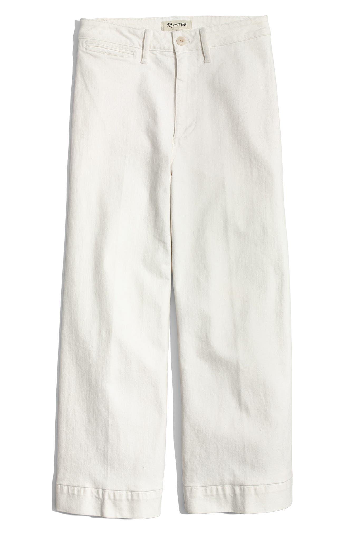 Emmett Crop Wide Leg Jeans,                             Alternate thumbnail 4, color,                             100