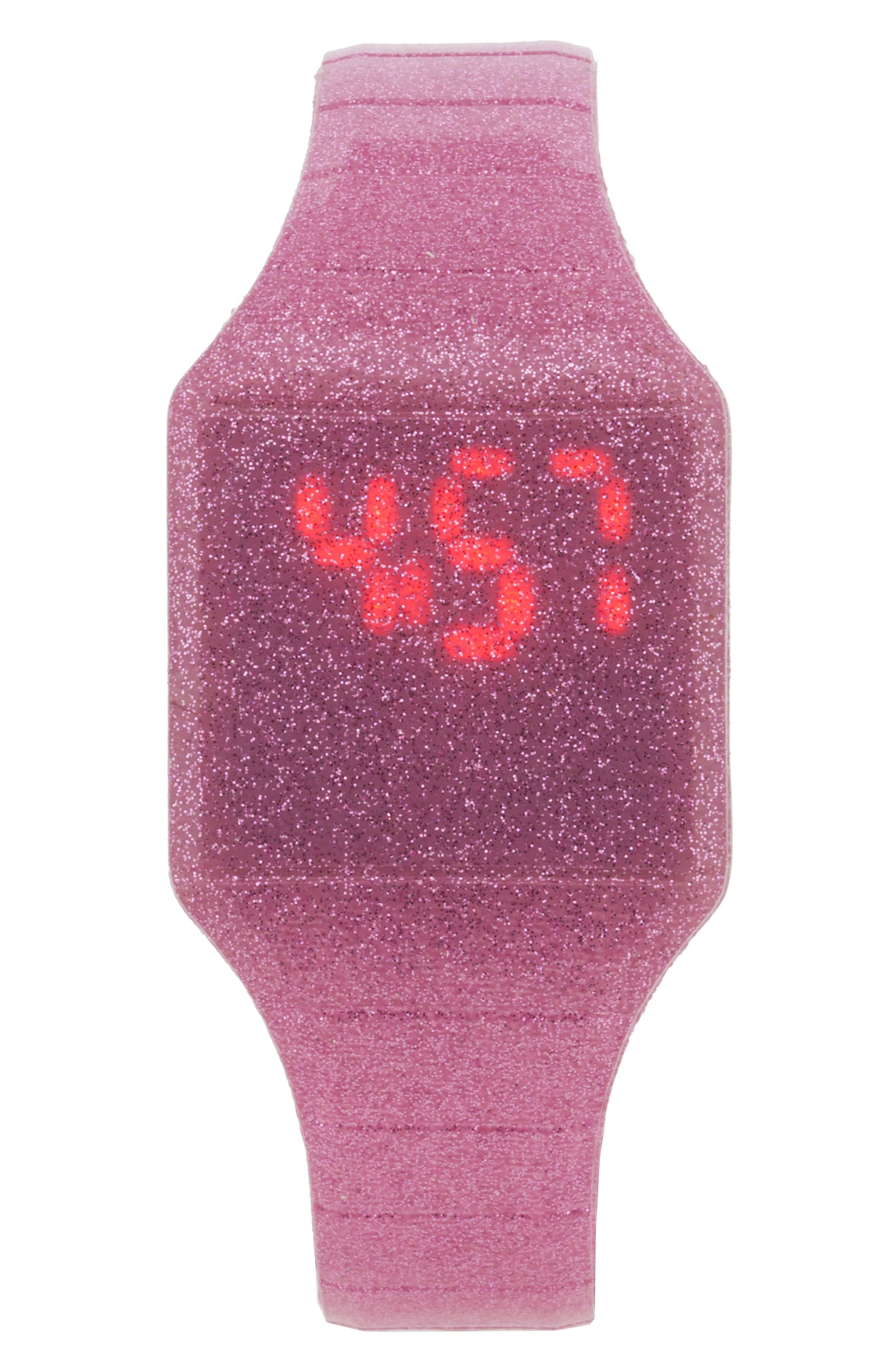 Girls Accutime Glitter Led Watch