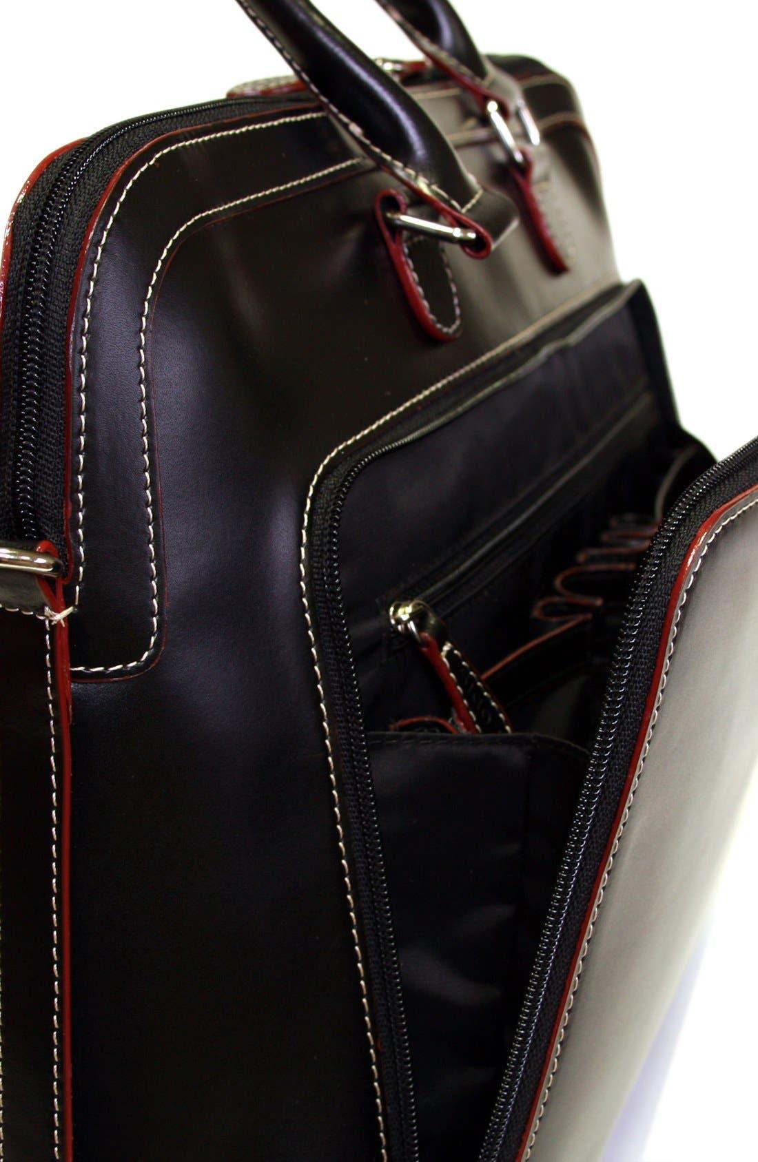 Lodis 'Audrey Brera' Leather Briefcase,                             Alternate thumbnail 8, color,                             001