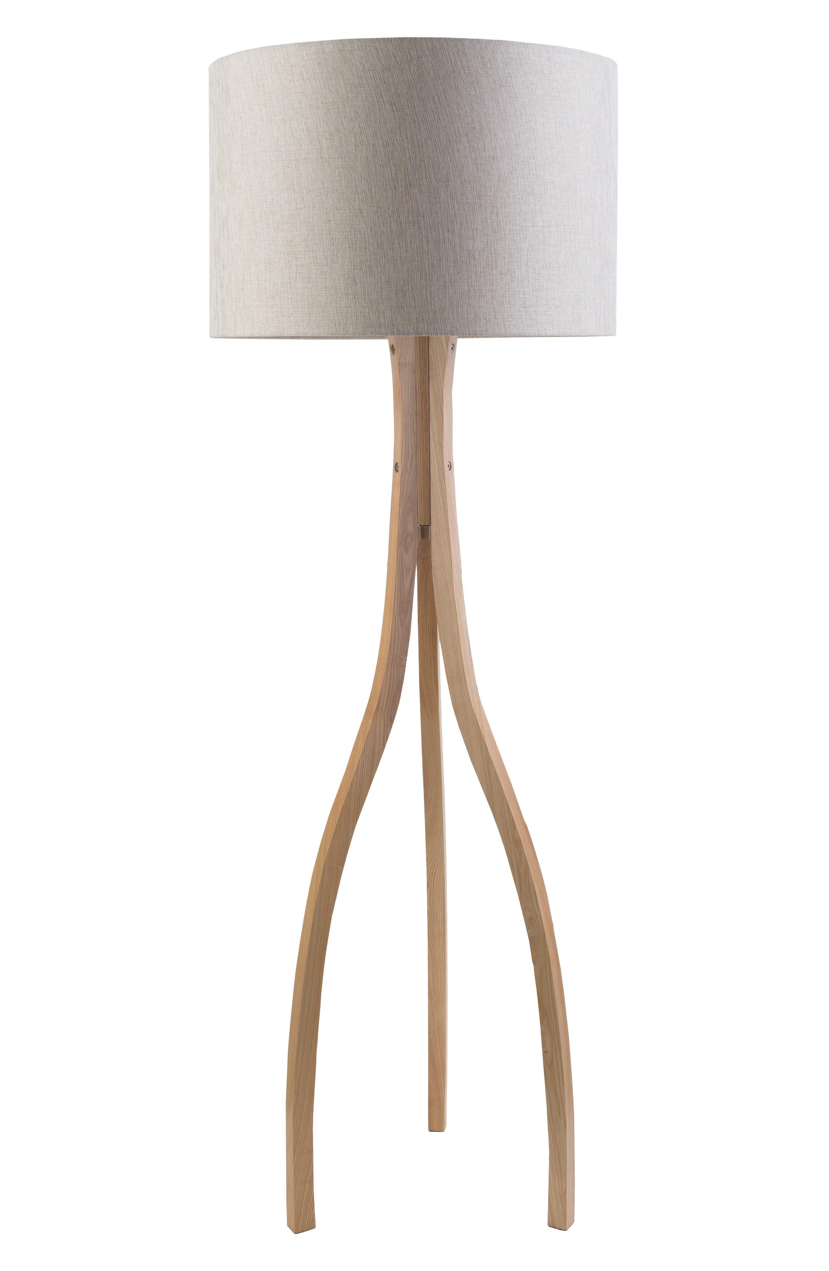 Surya Home Duxbury Floor Lamp Size One Size  Beige