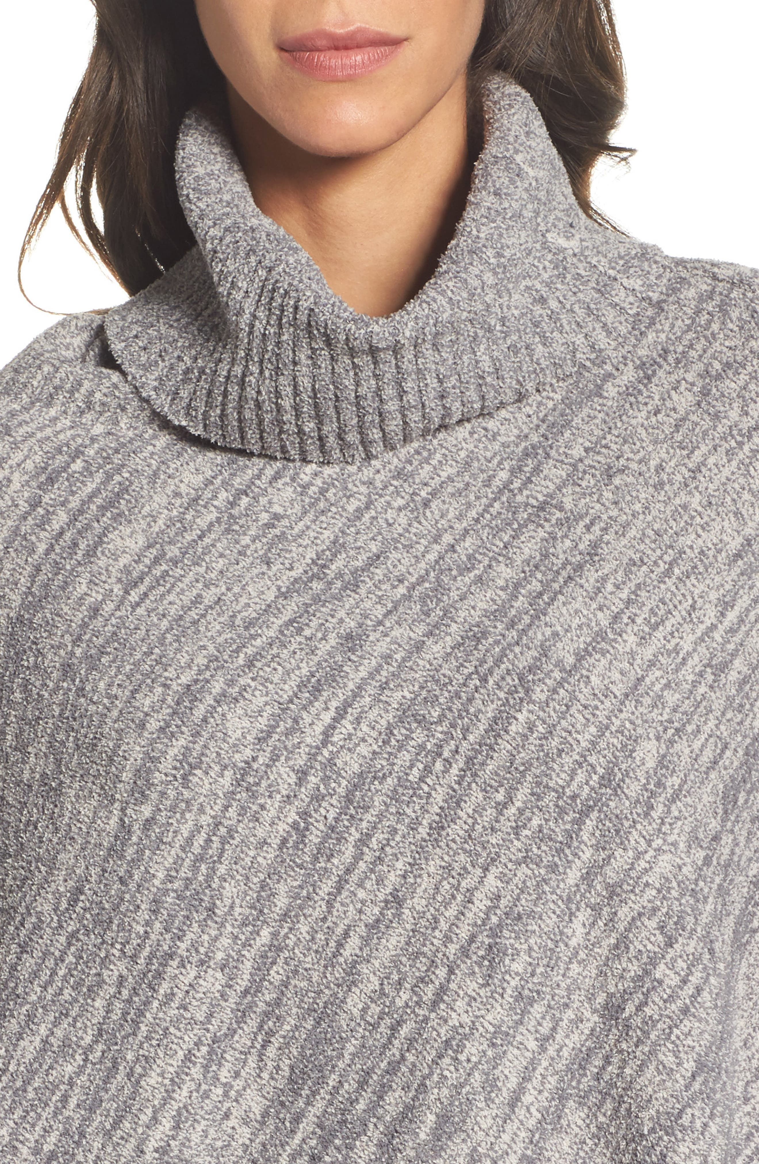 Cozychic<sup>®</sup> Point Dume Poncho,                             Alternate thumbnail 4, color,                             GRAPHITE/ STONE HEATHERED