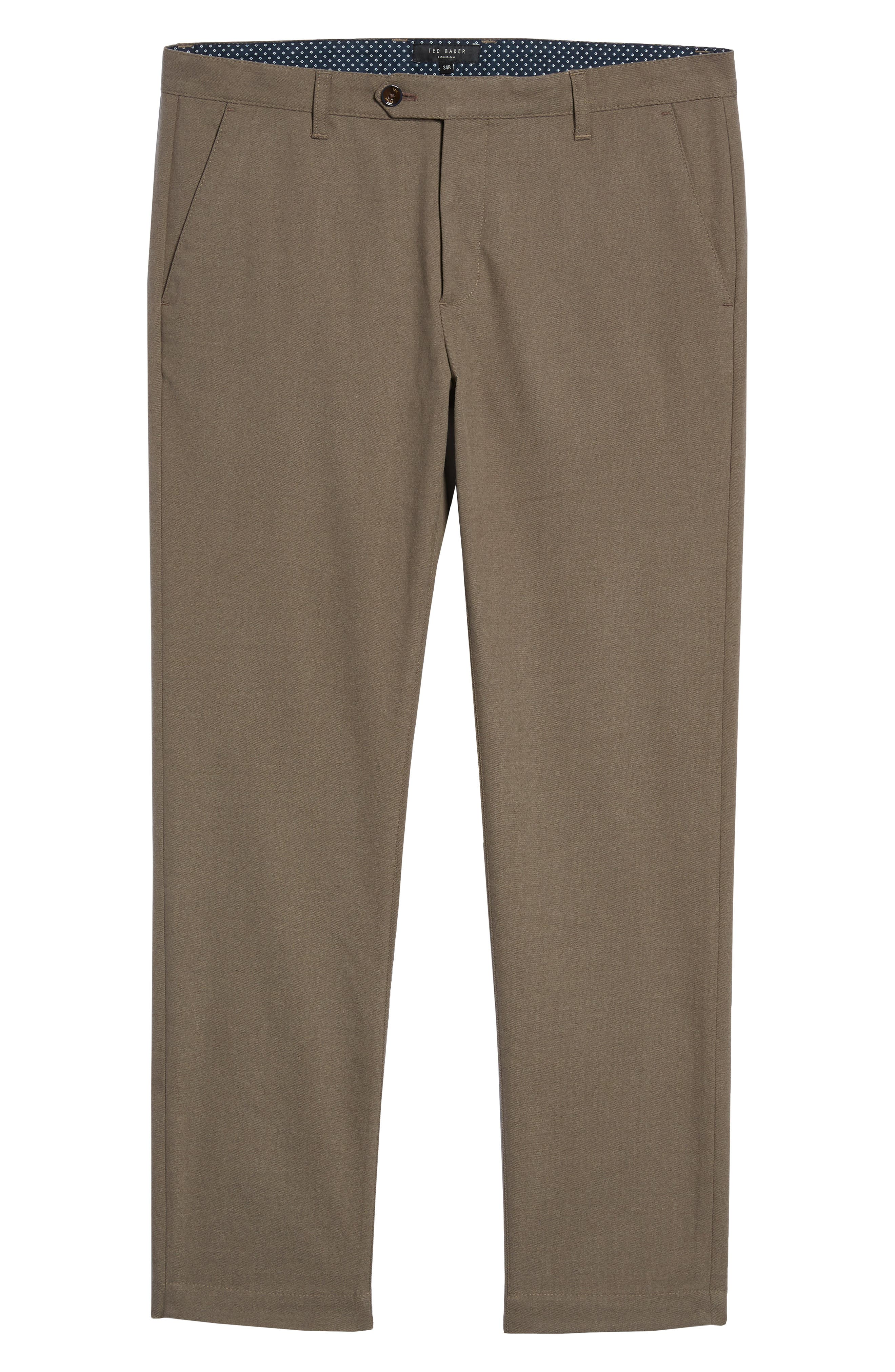 Tall Slim Fit Brushed Trousers,                             Alternate thumbnail 6, color,                             NATURAL