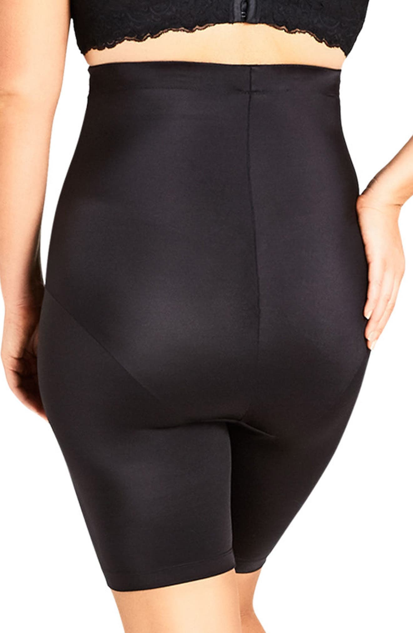 Smooth & Chic Thigh Shaper,                             Alternate thumbnail 2, color,                             BLACK