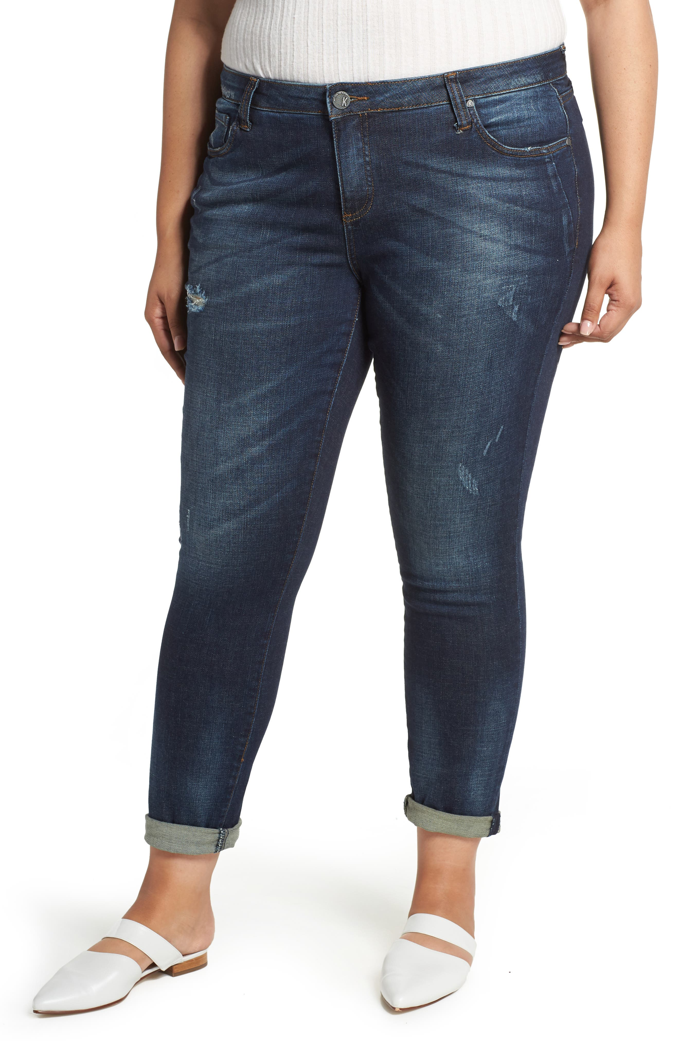 Plus Size Kut From The Kloth Catherine Slouchy Boyfriend Jeans, Blue