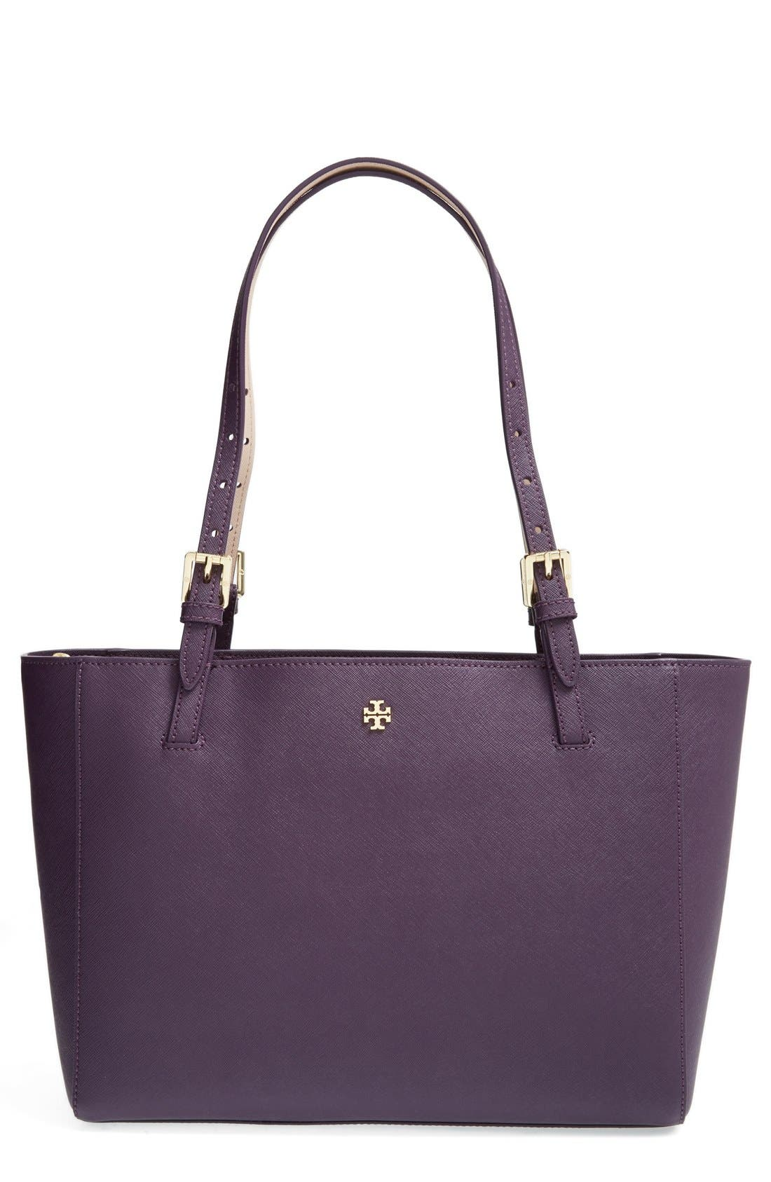'Small York' Saffiano Leather Buckle Tote,                             Main thumbnail 13, color,
