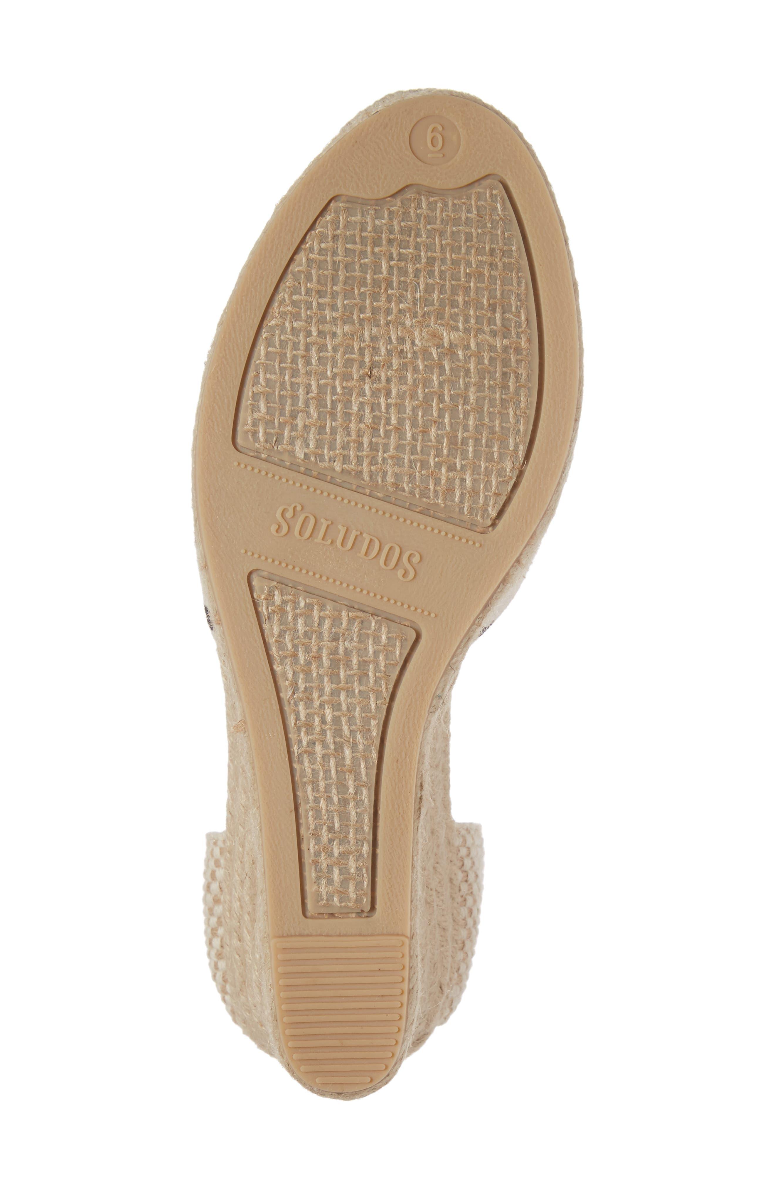 Wedge Sandal,                             Alternate thumbnail 6, color,                             004