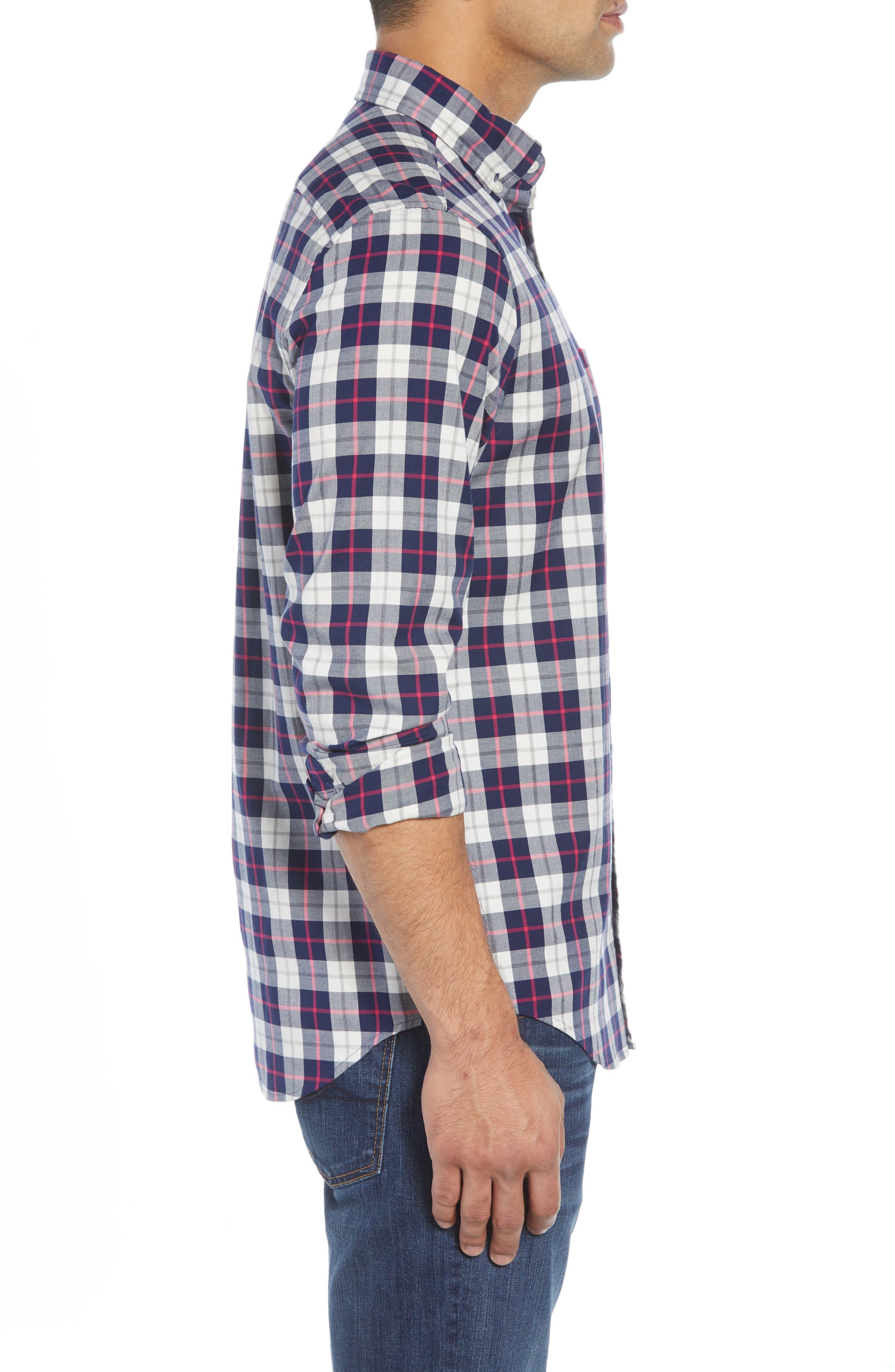 Riverbank Regular Fit Plaid Sport Shirt,                             Alternate thumbnail 4, color,                             KATAMA BAY