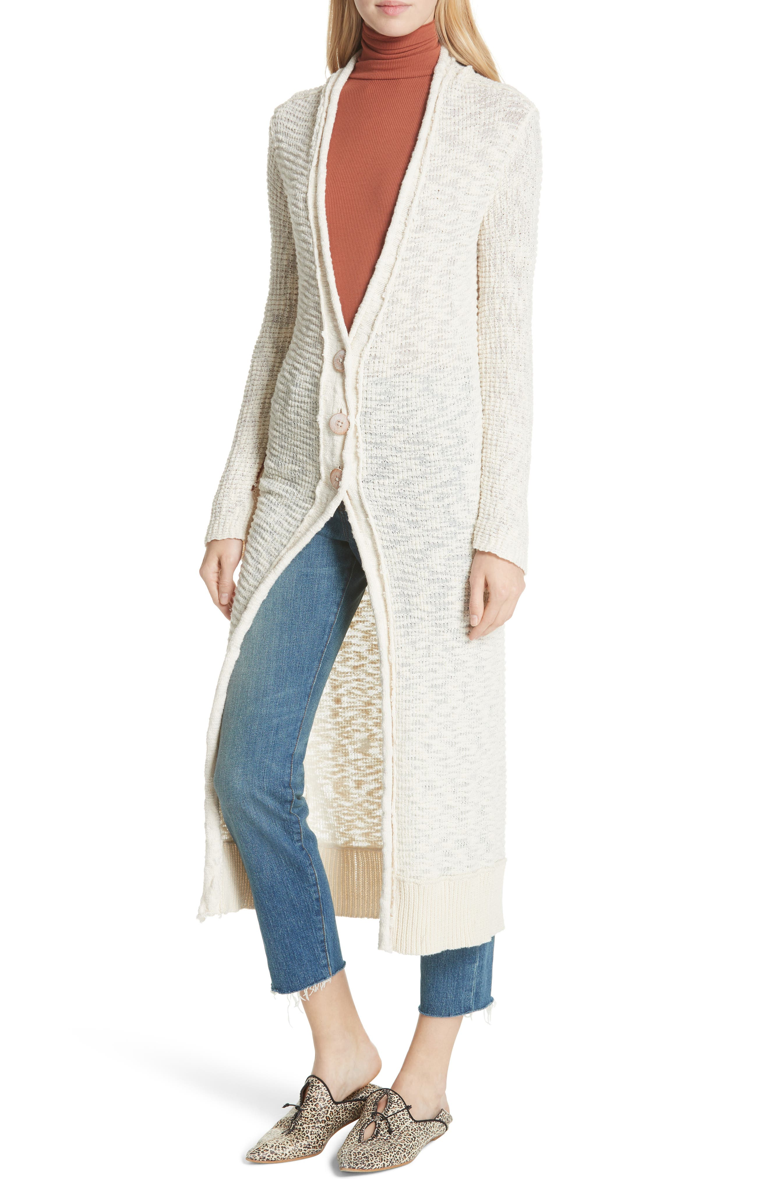 Clearwater Long Cardigan,                             Alternate thumbnail 4, color,                             IVORY