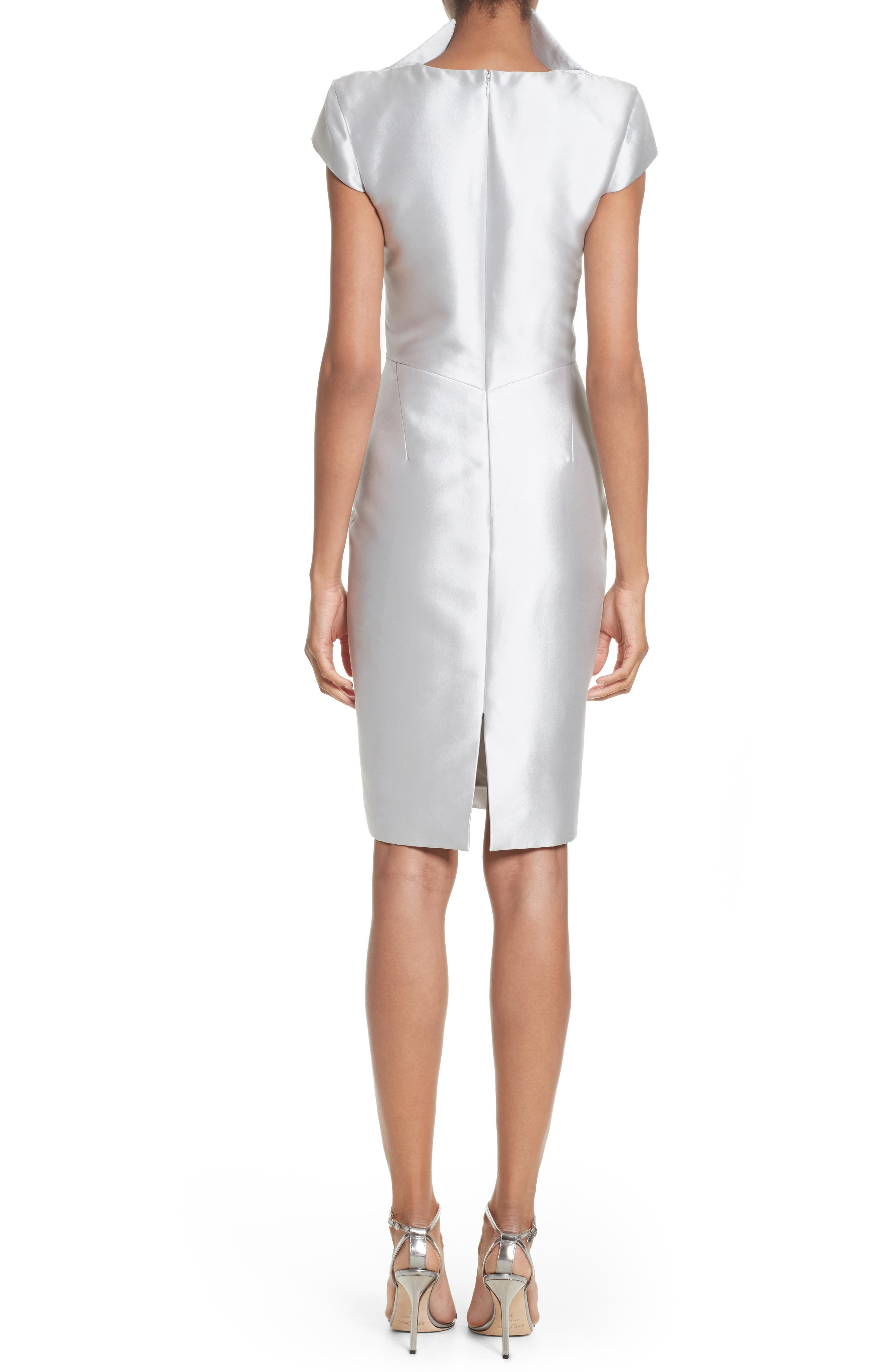 Cap Sleeve Sheath Dress,                             Alternate thumbnail 2, color,                             040