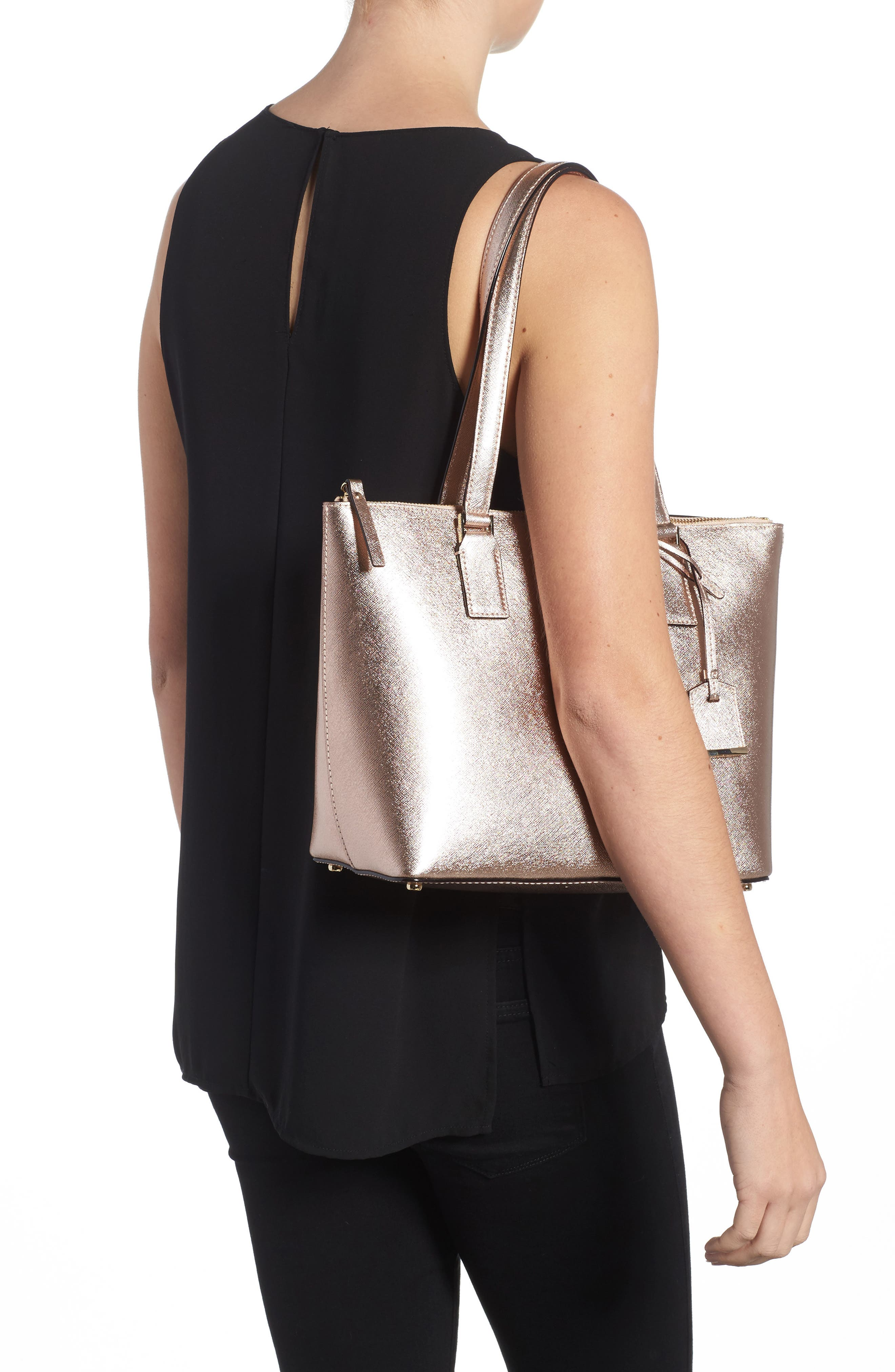 cameron street - small lucie leather tote,                             Alternate thumbnail 2, color,                             650