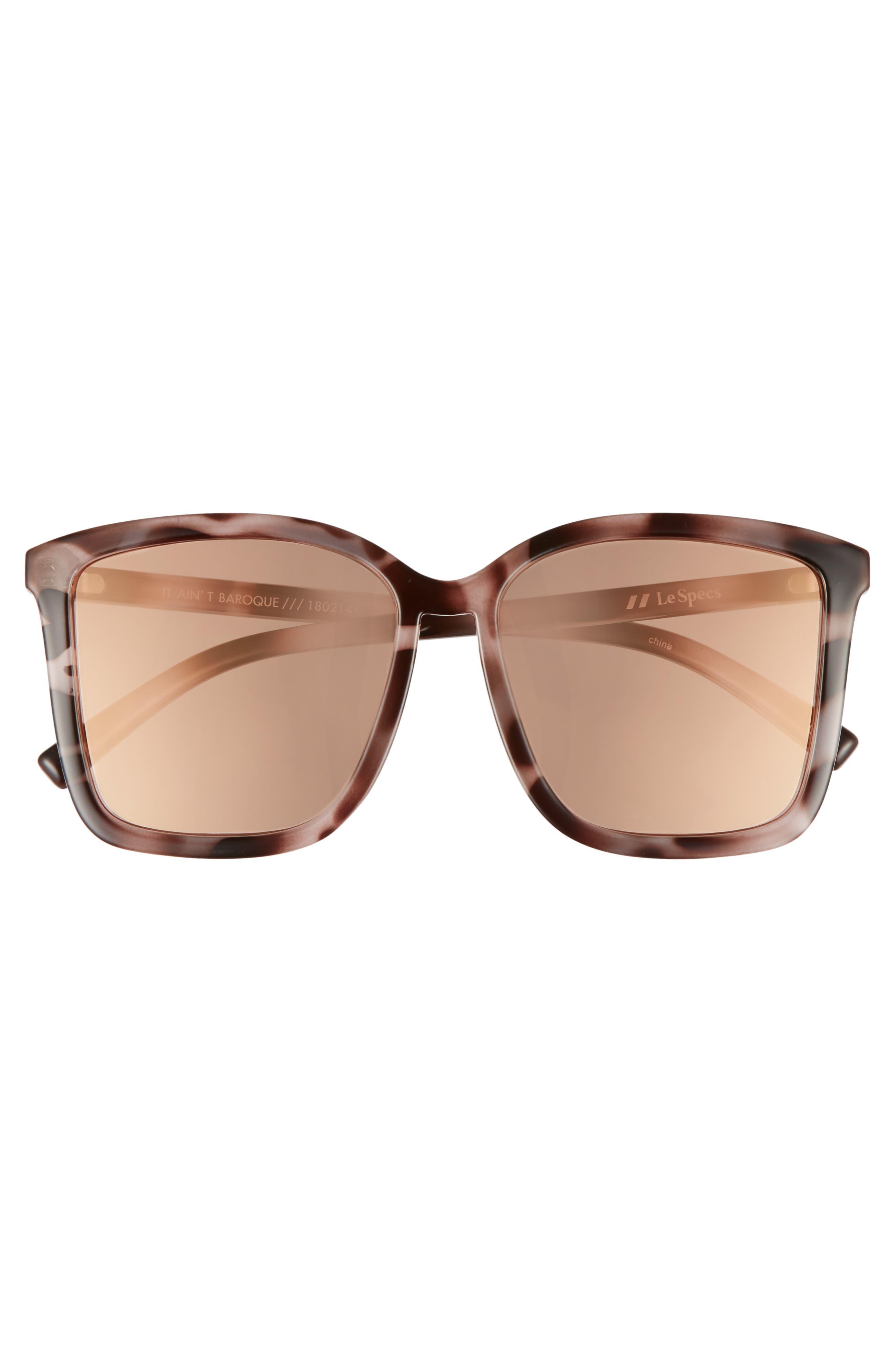 It Ain't Baroque 55mm Sunglasses,                             Alternate thumbnail 3, color,                             APRICOT TORT