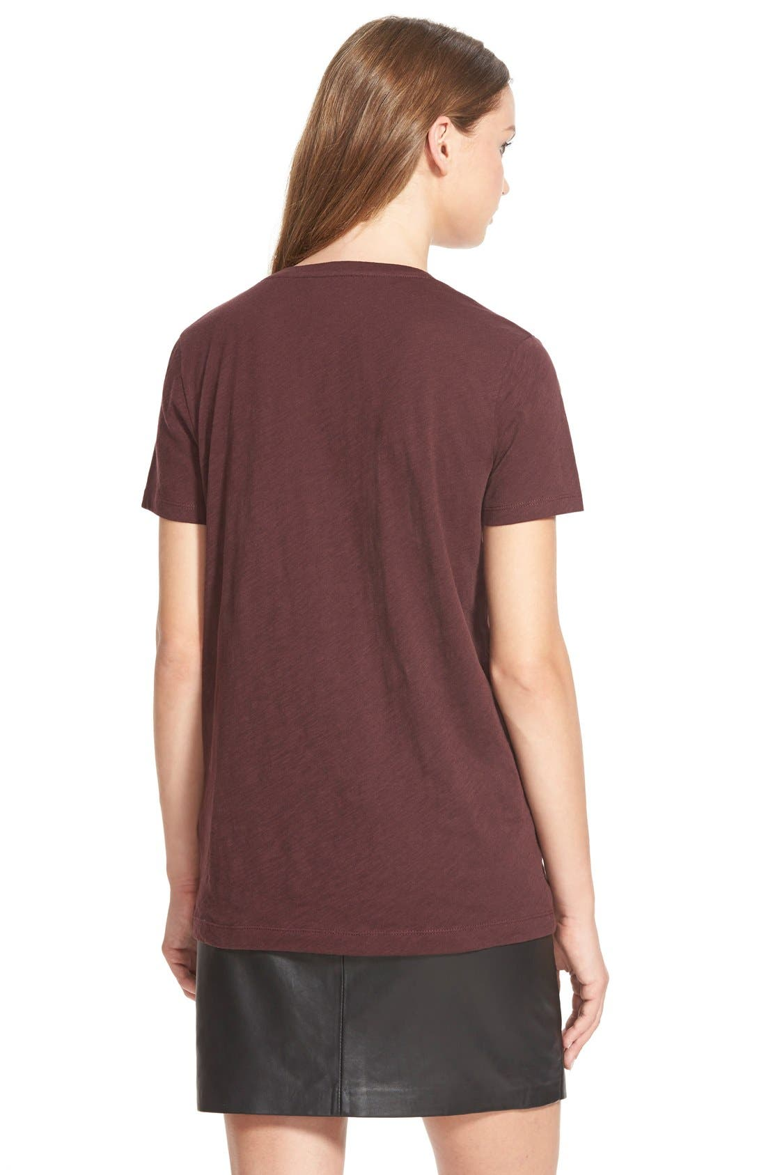 Whisper Cotton V-Neck Pocket Tee,                             Alternate thumbnail 141, color,