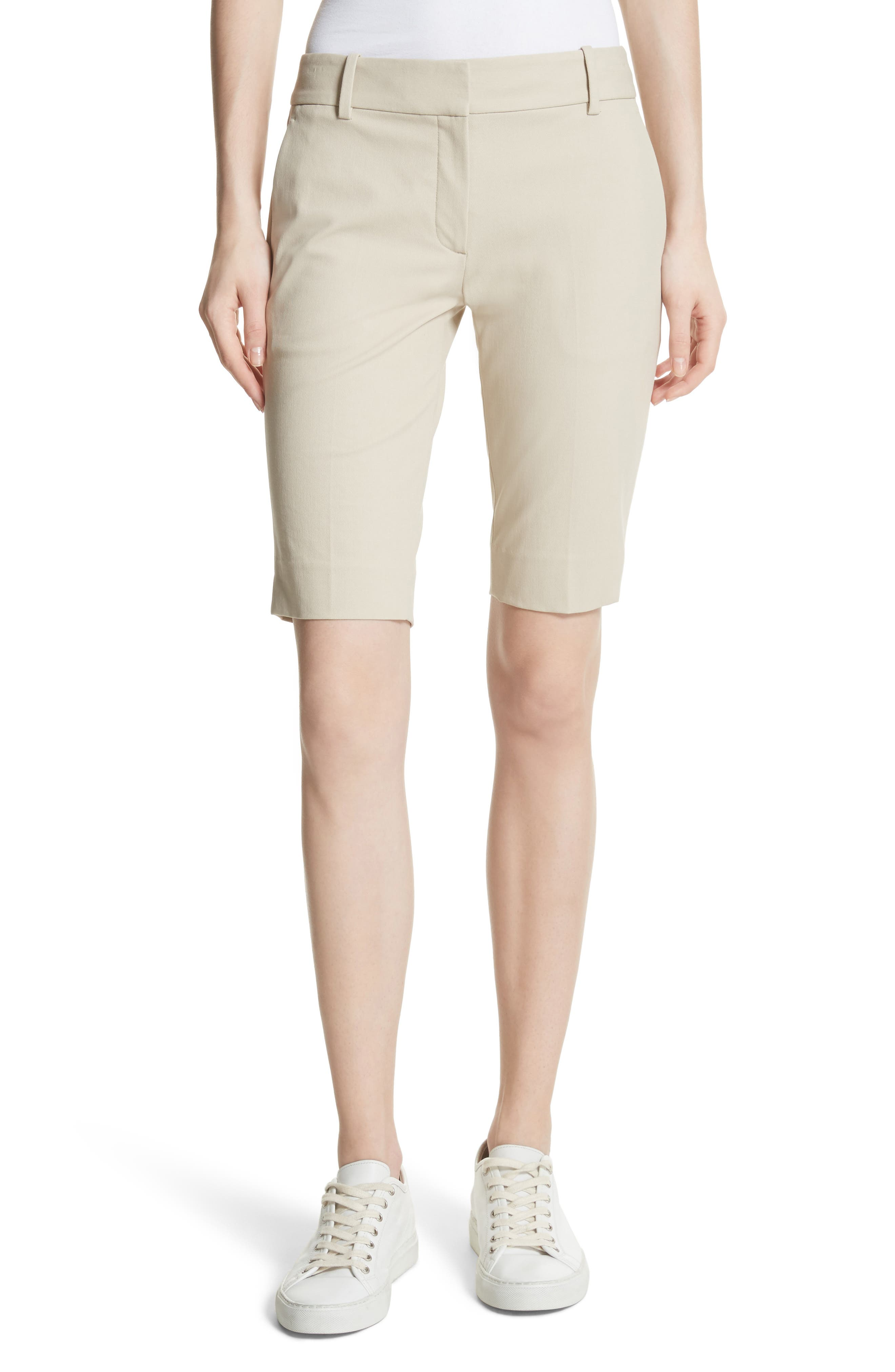 Approach Stretch Twill Slim Bermuda Shorts,                             Main thumbnail 1, color,                             257