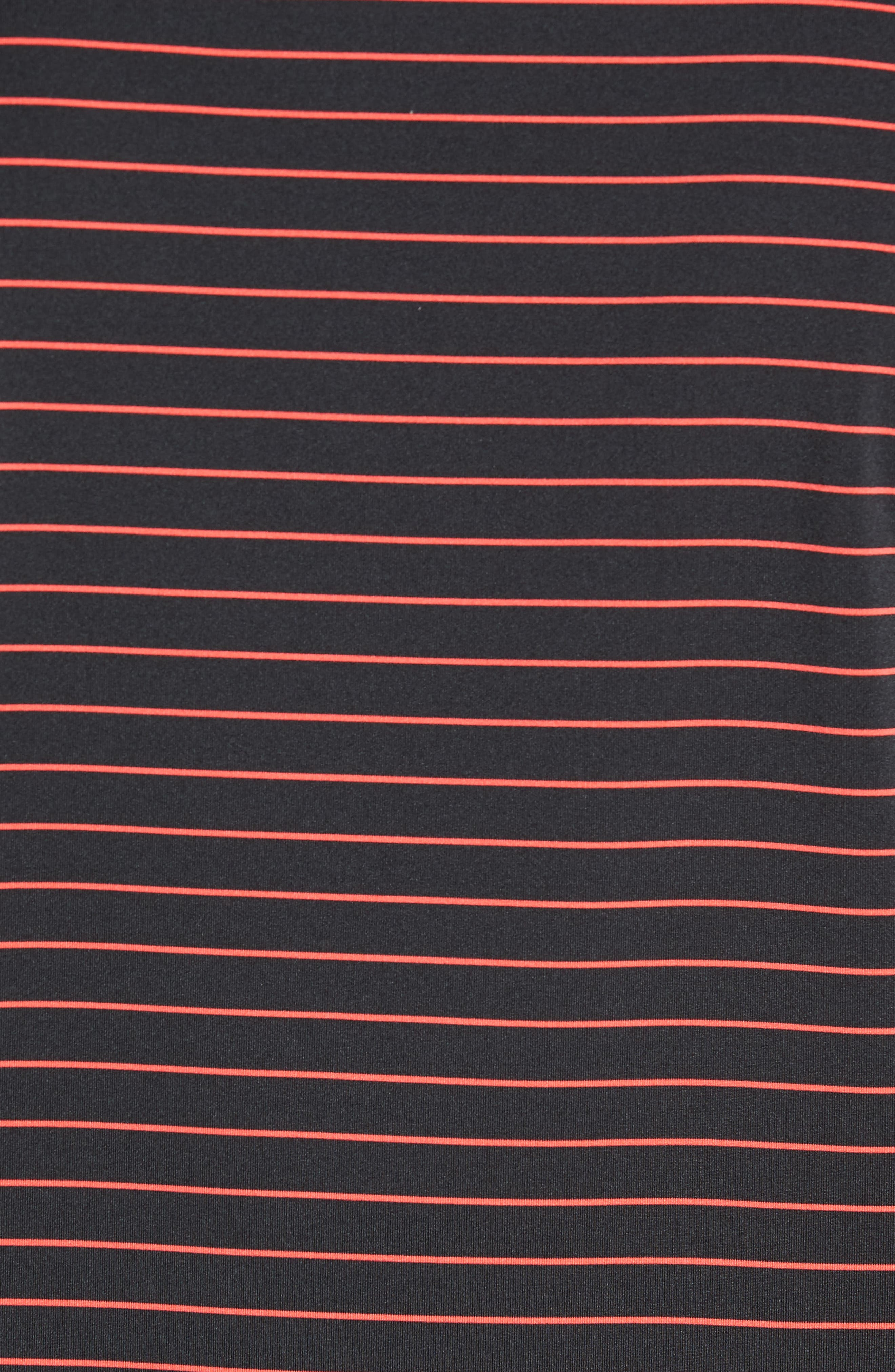 Halifax Pinstripe Stretch Jersey Polo,                             Alternate thumbnail 5, color,                             001