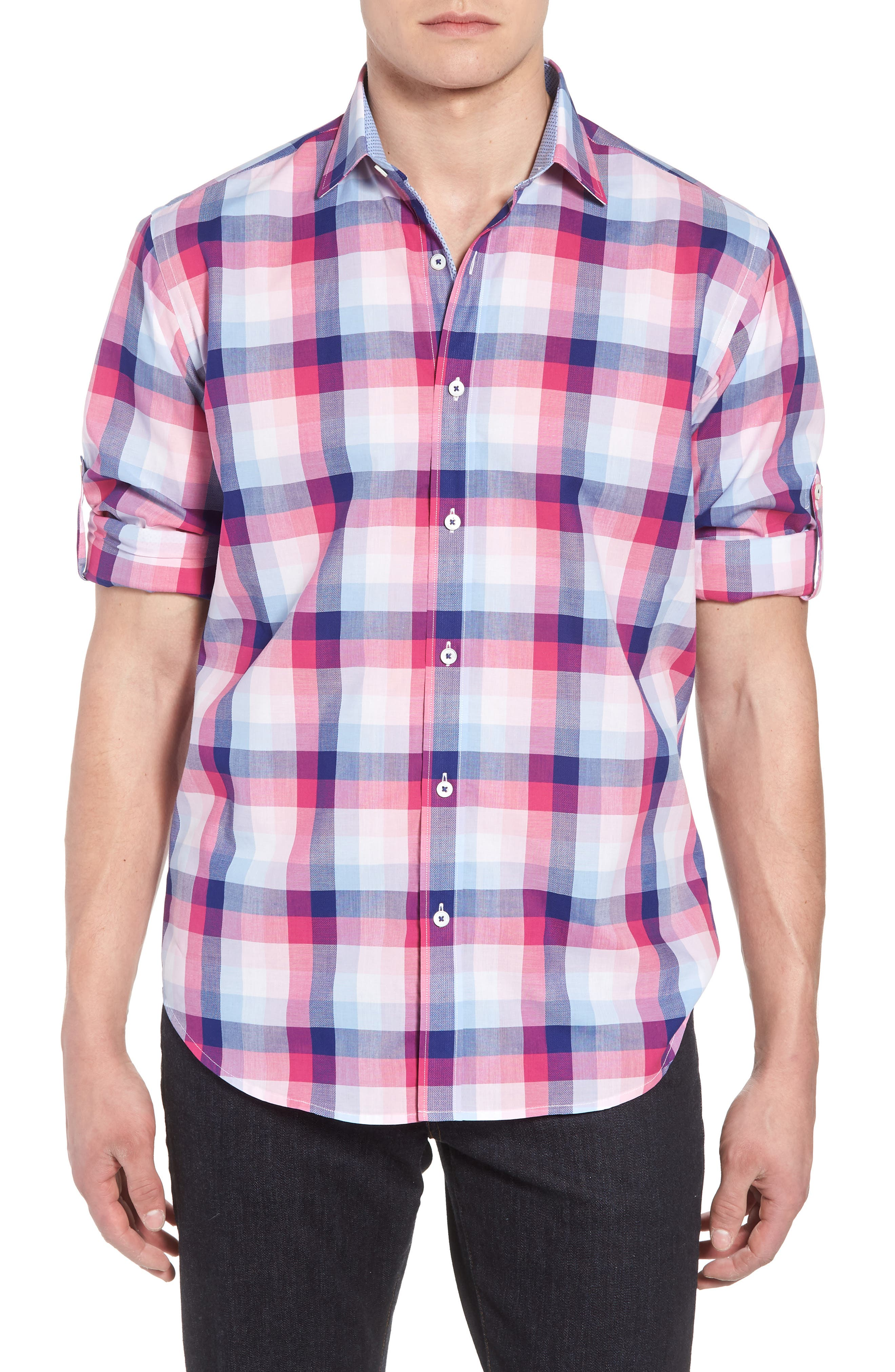 Classic Fit Woven Sport Shirt,                             Main thumbnail 1, color,