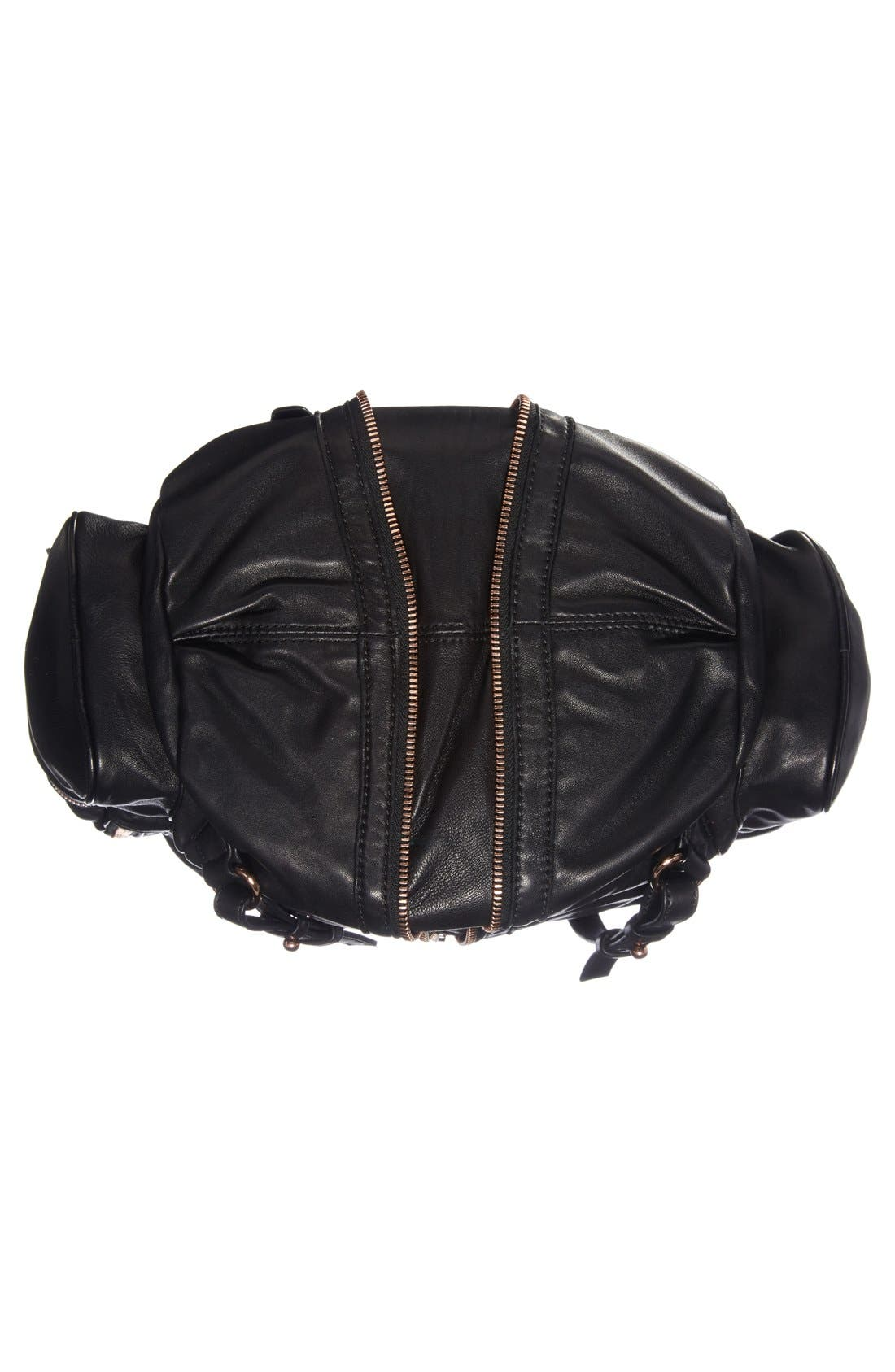'Marti - Rose Gold' Leather Backpack,                             Alternate thumbnail 4, color,                             001