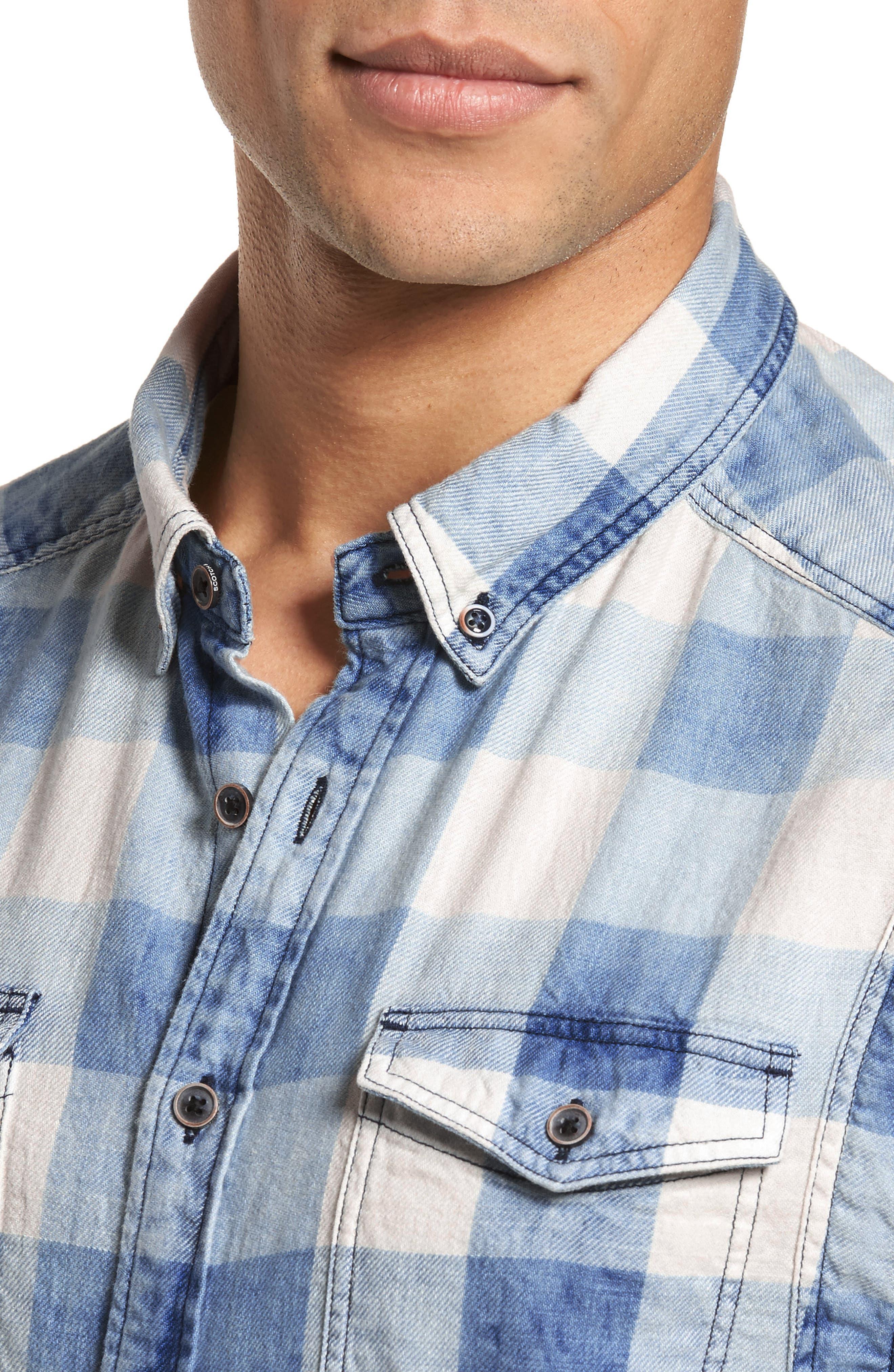 Amsterdams Blauw Check Shirt,                             Alternate thumbnail 4, color,                             400