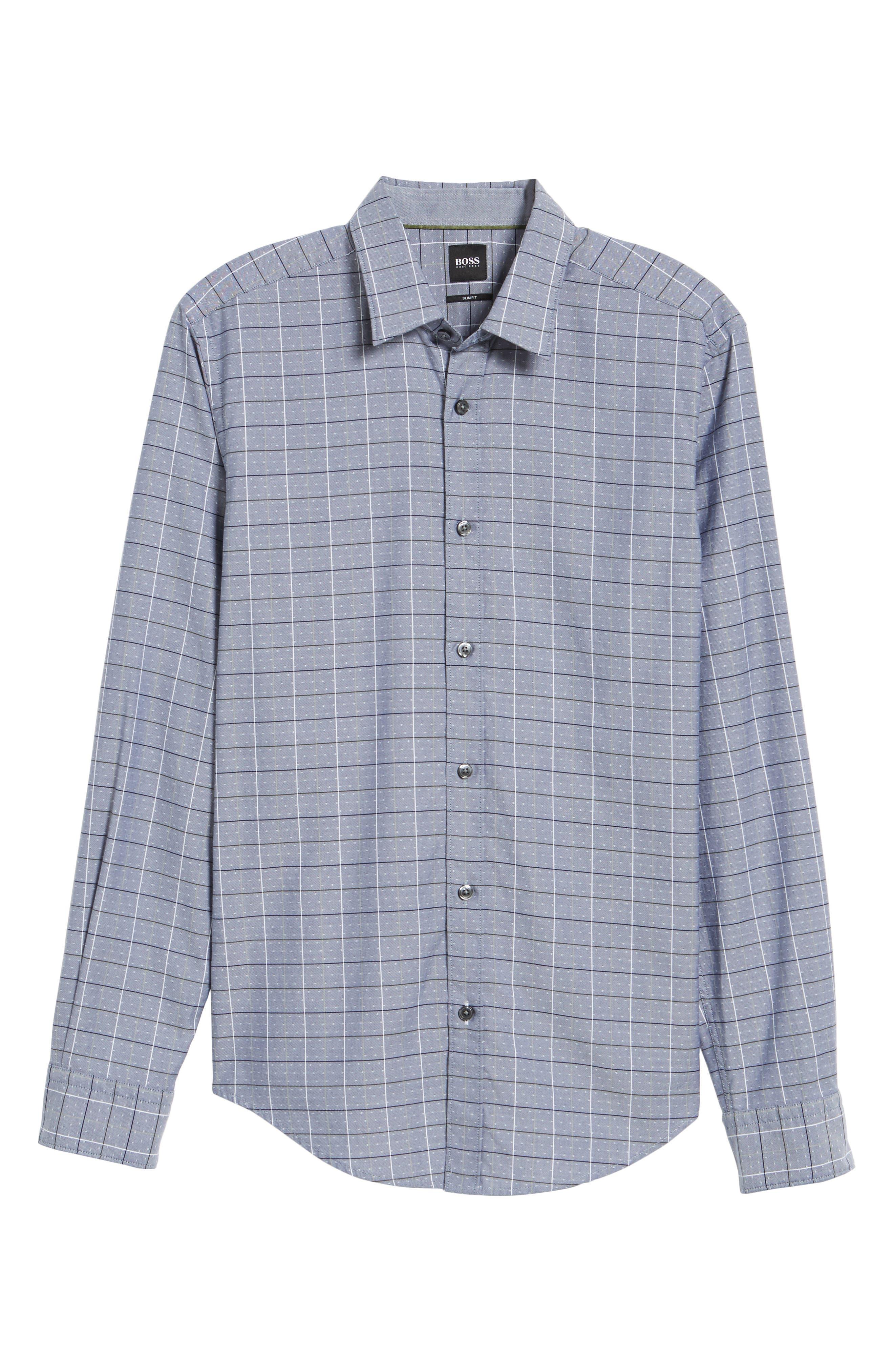 Ronni Slim Fit Check Sport Shirt,                             Alternate thumbnail 6, color,                             400