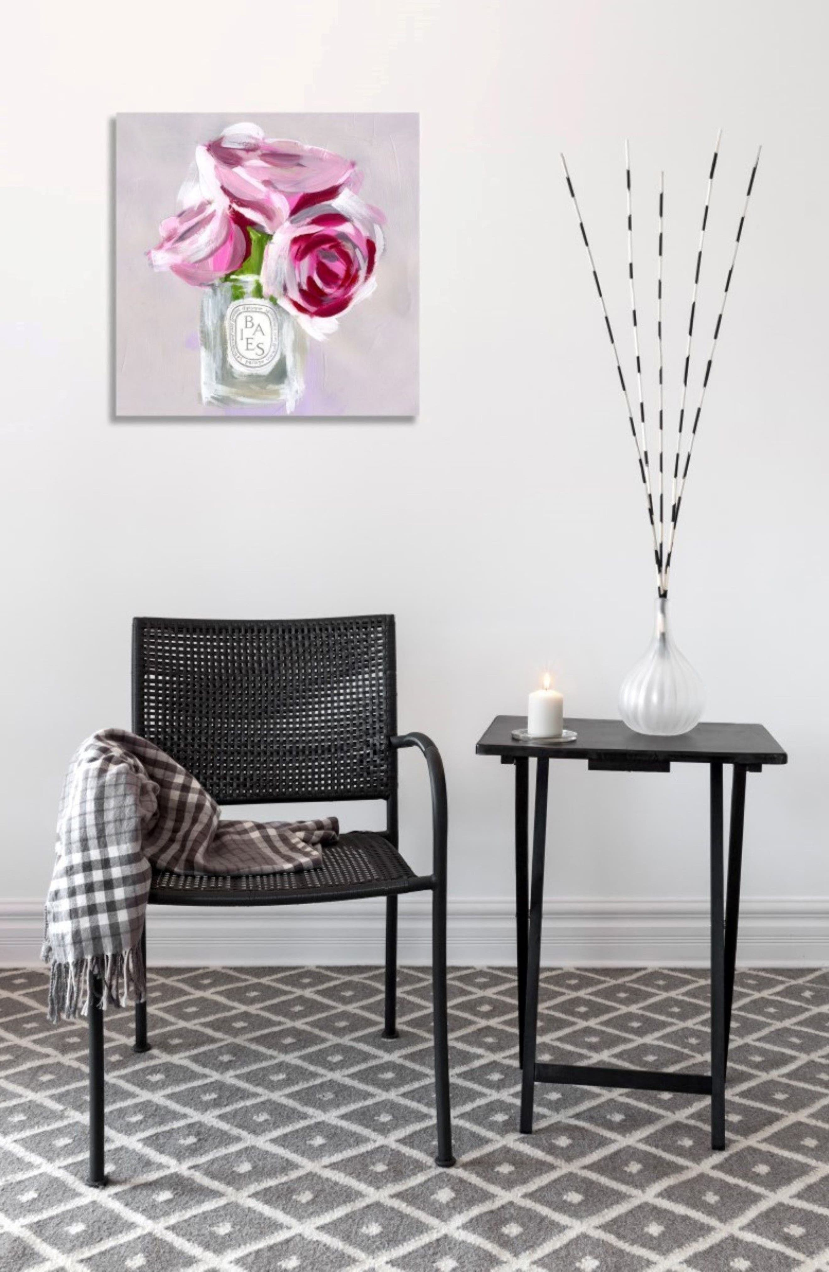 'Rose Candle' Canvas Wall Art,                             Alternate thumbnail 3, color,                             020