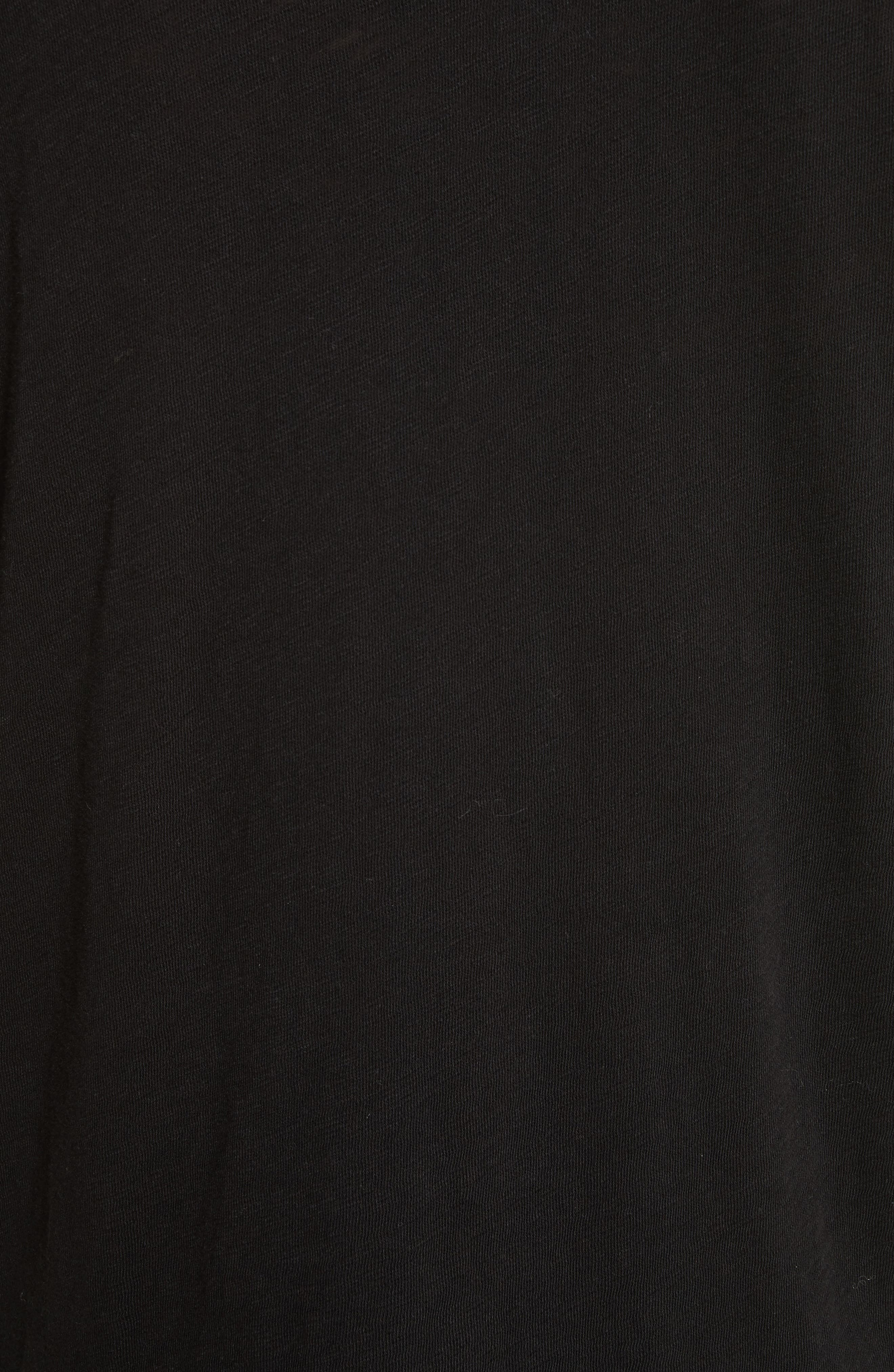 Destroyed Long Sleeve T-Shirt,                             Alternate thumbnail 5, color,                             BLACK
