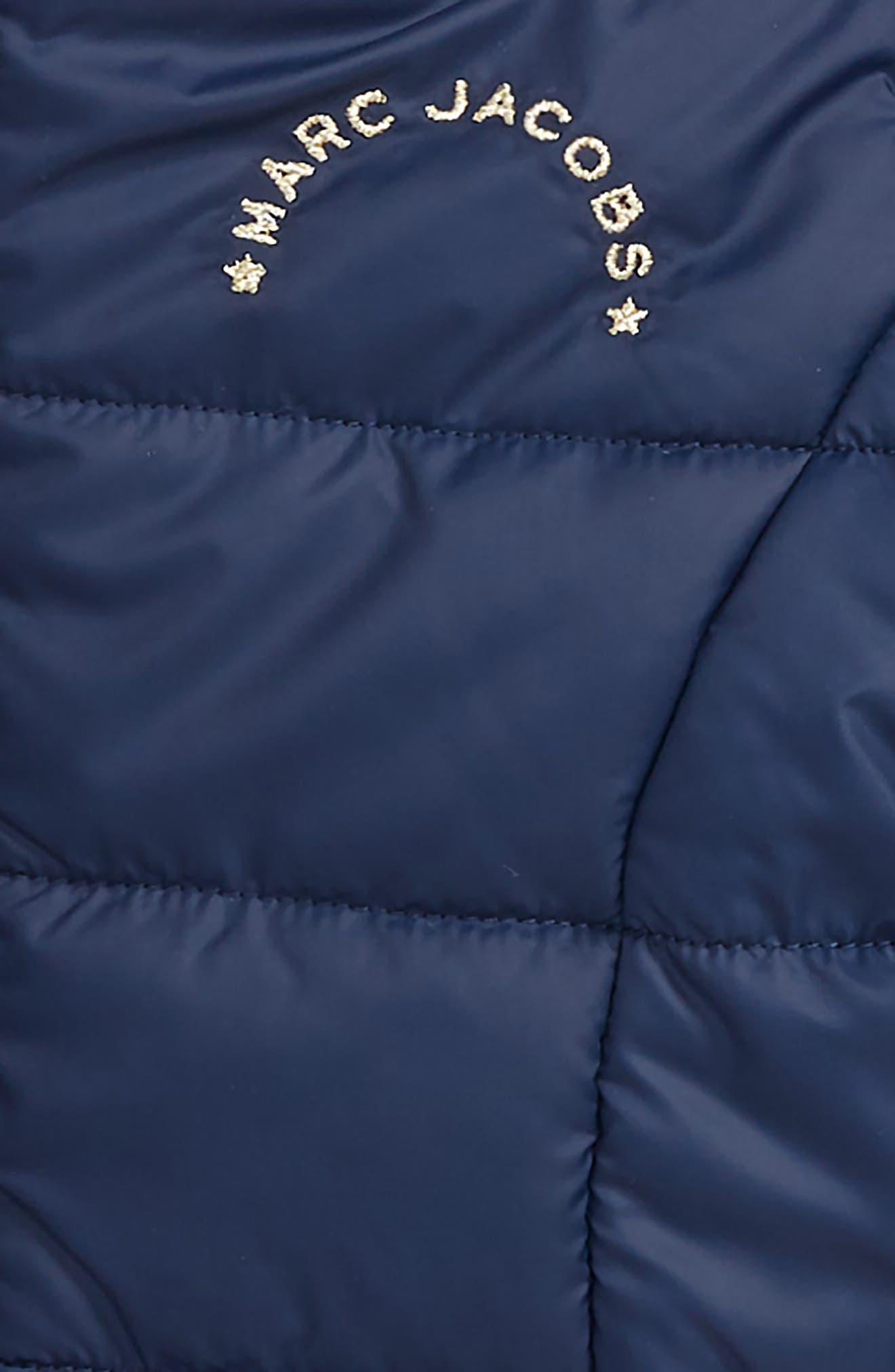 LITTLE MARC JACOBS,                             Reversible Faux Fur Puffer Jacket,                             Alternate thumbnail 3, color,                             400