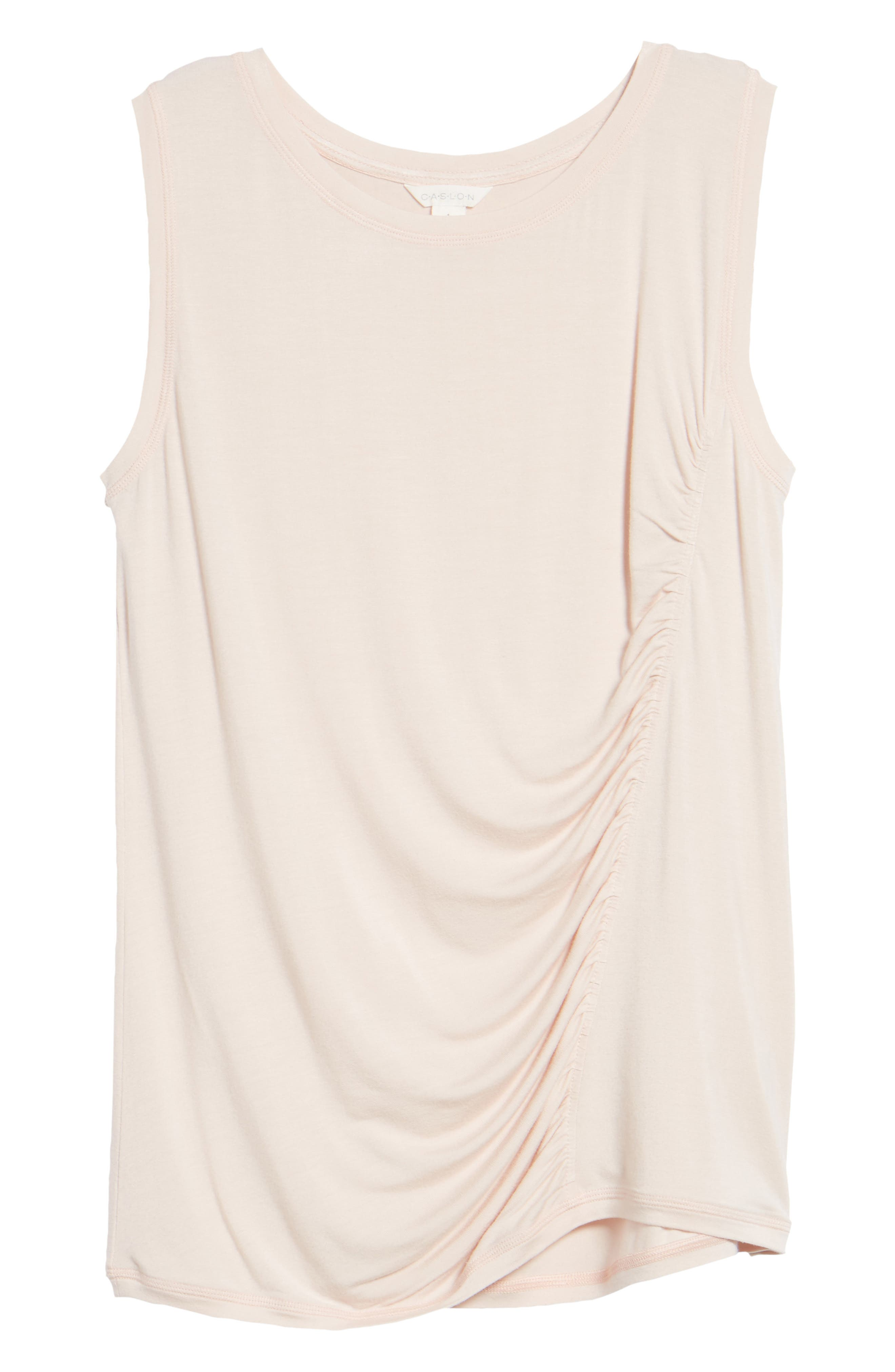 Off-Duty Shirred Sleeveless Tee,                             Alternate thumbnail 30, color,