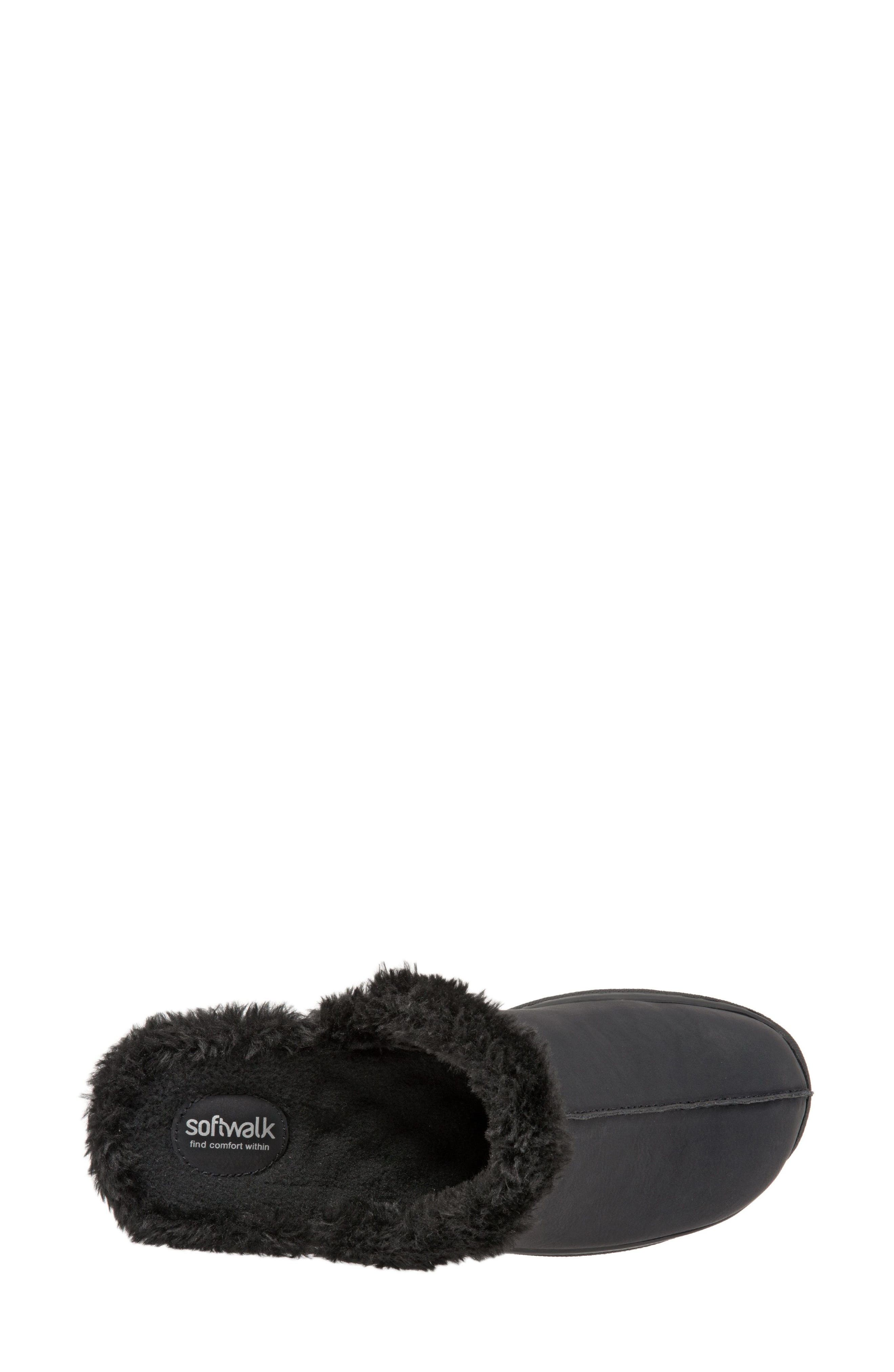 Abigail Clog with Faux Shearling Trim,                             Alternate thumbnail 5, color,                             004