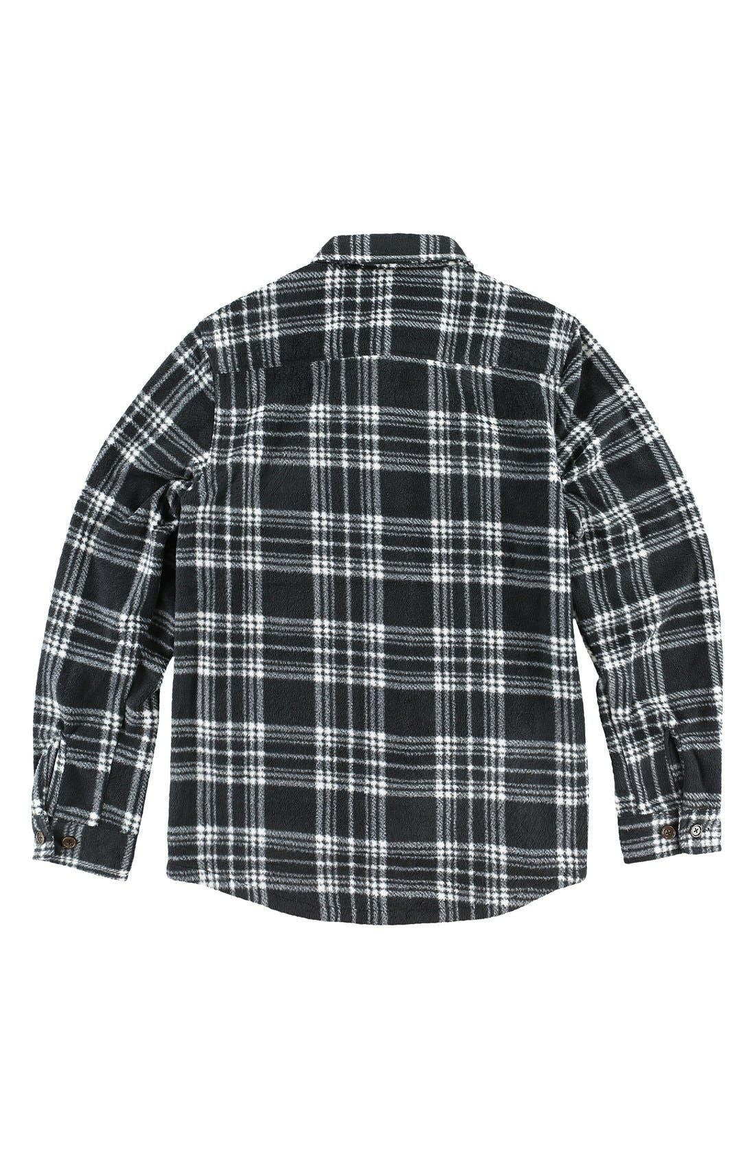 'Glacier' Check Long Sleeve Fleece Shirt,                             Alternate thumbnail 2, color,                             001