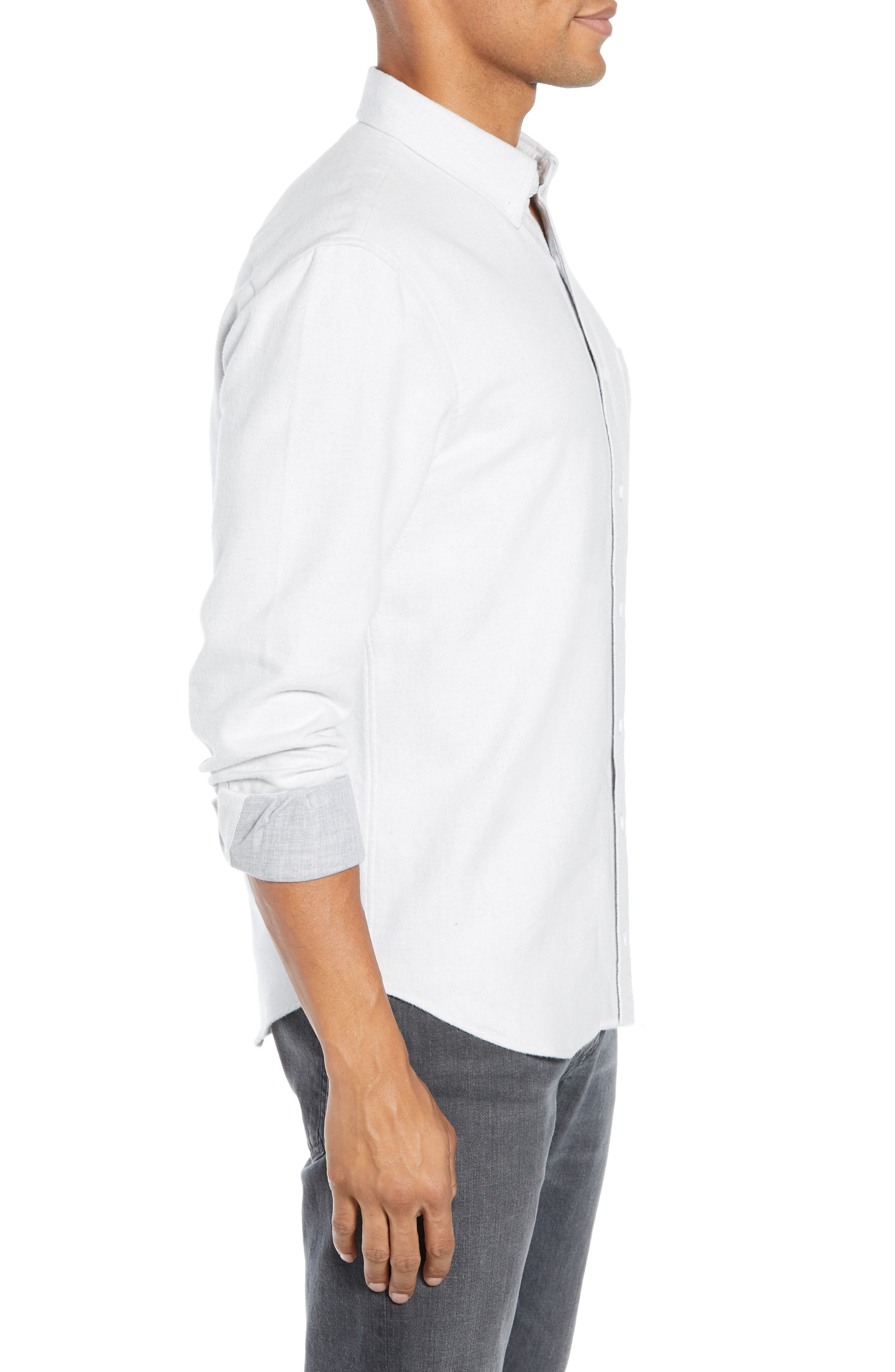 Trim Fit Double Face Twill Sport Shirt,                             Alternate thumbnail 4, color,                             105
