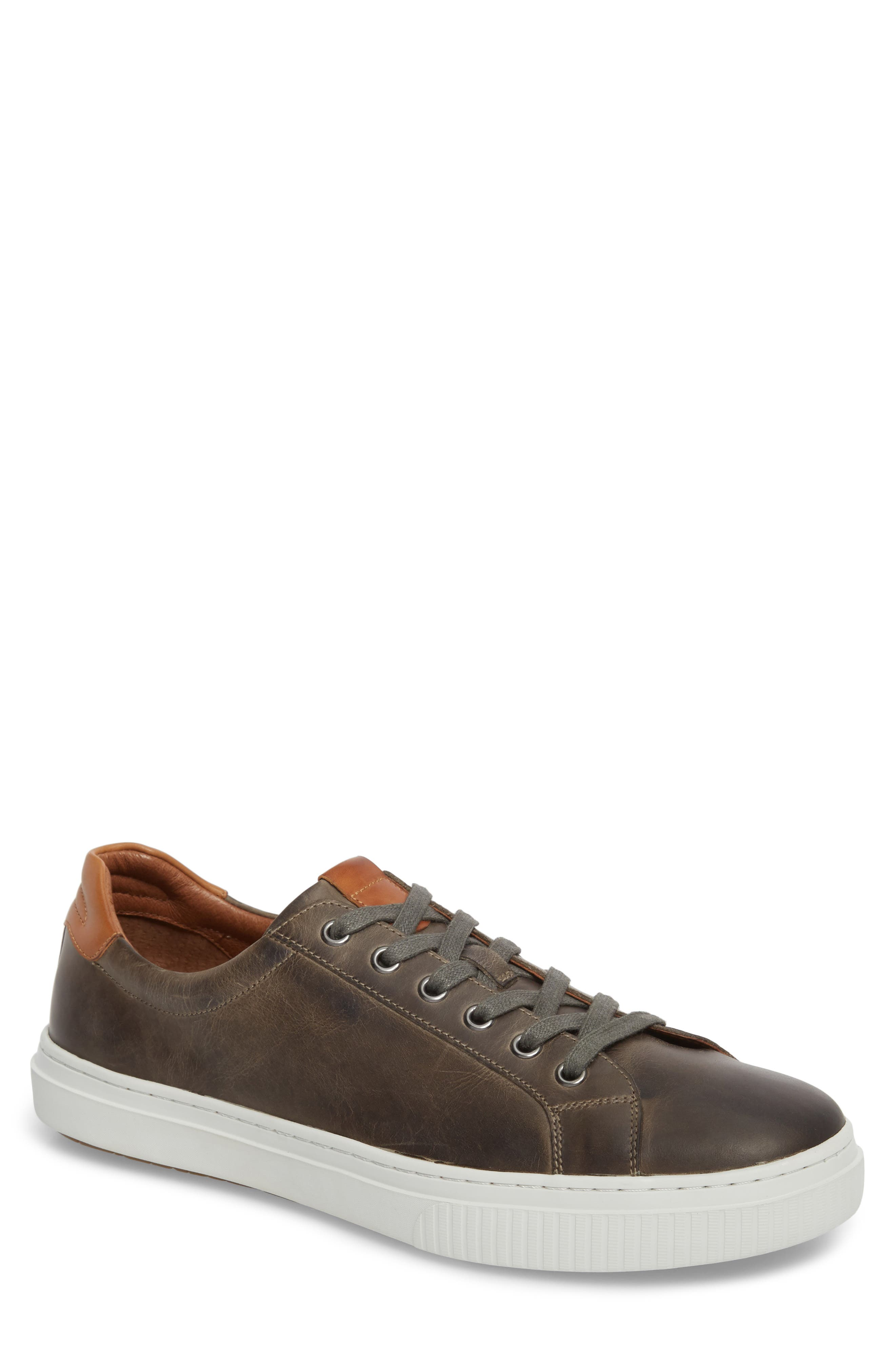 Toliver Low Top Sneaker,                         Main,                         color, GREY LEATHER