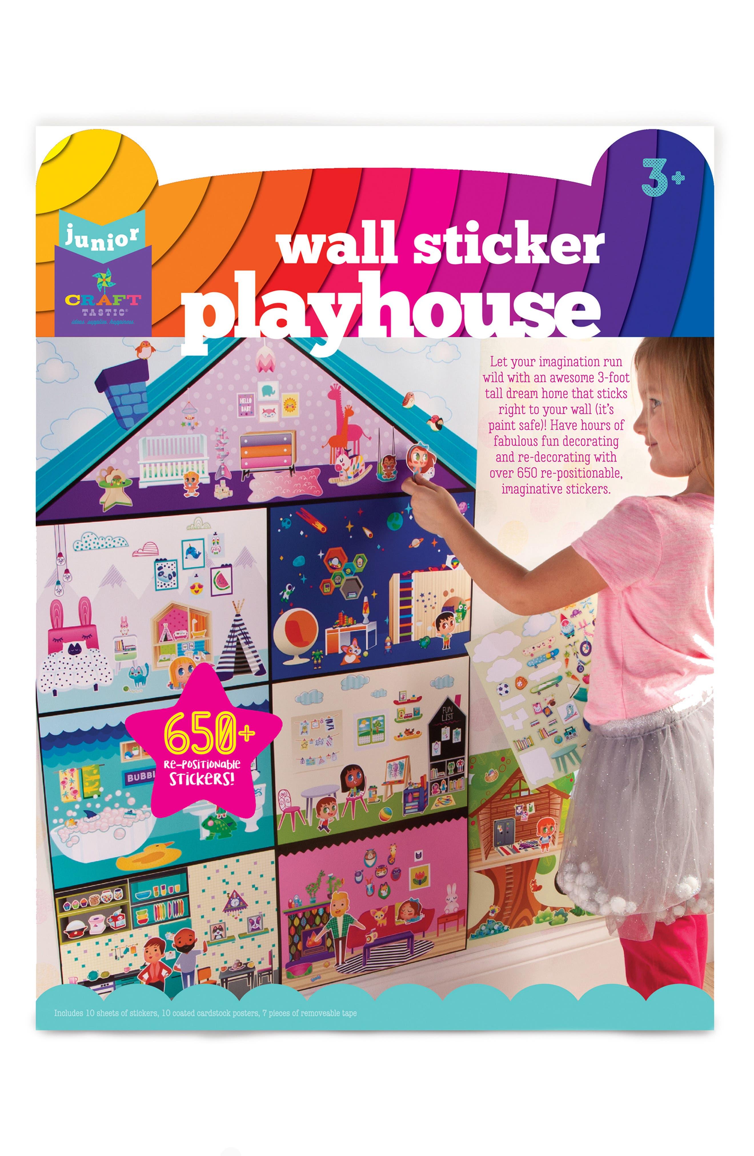 Jr. Wall Sticker Playhouse Set,                             Main thumbnail 1, color,                             960