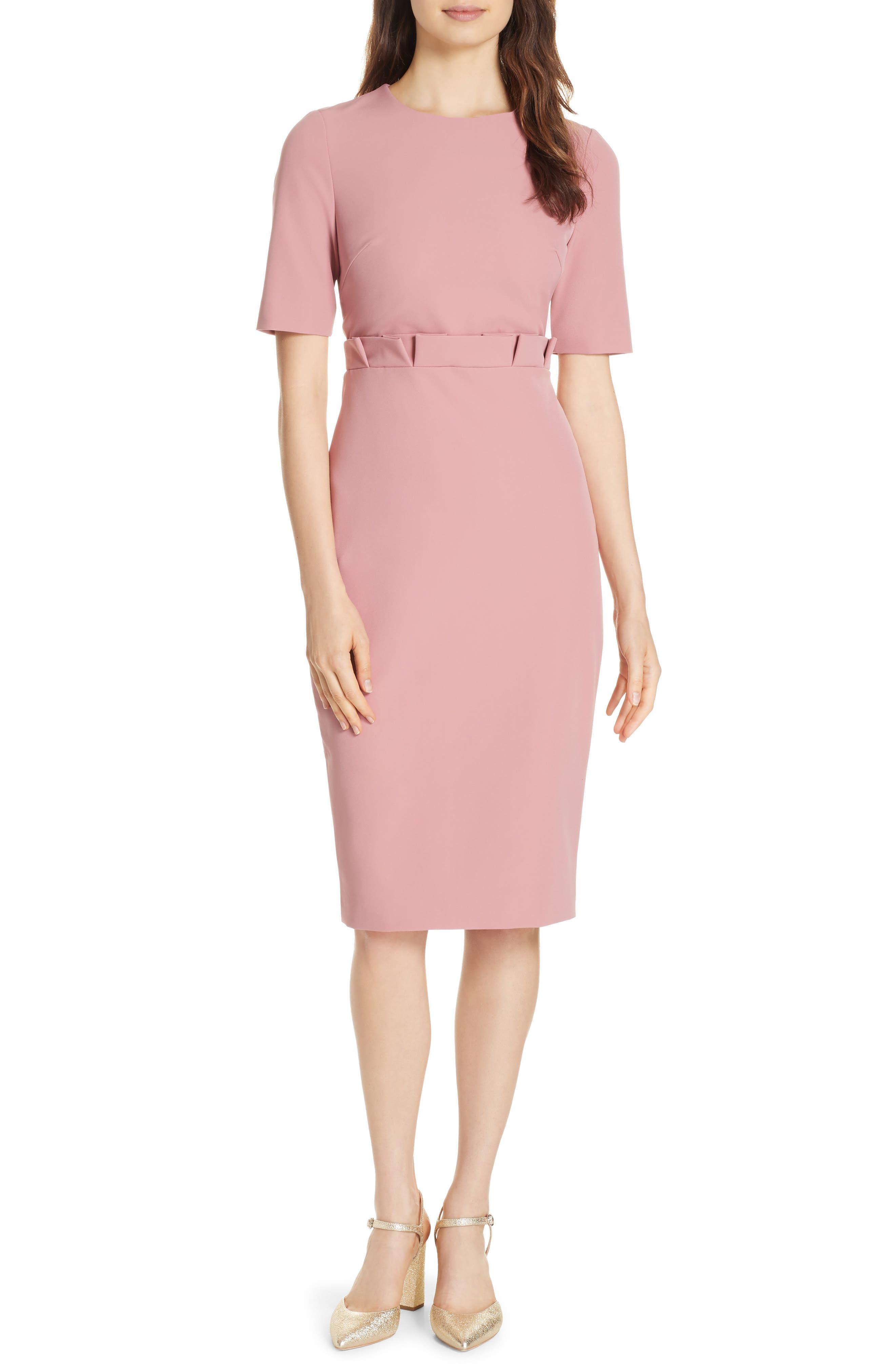 Maggidd Ruffle Waist Pencil Dress,                         Main,                         color, 953