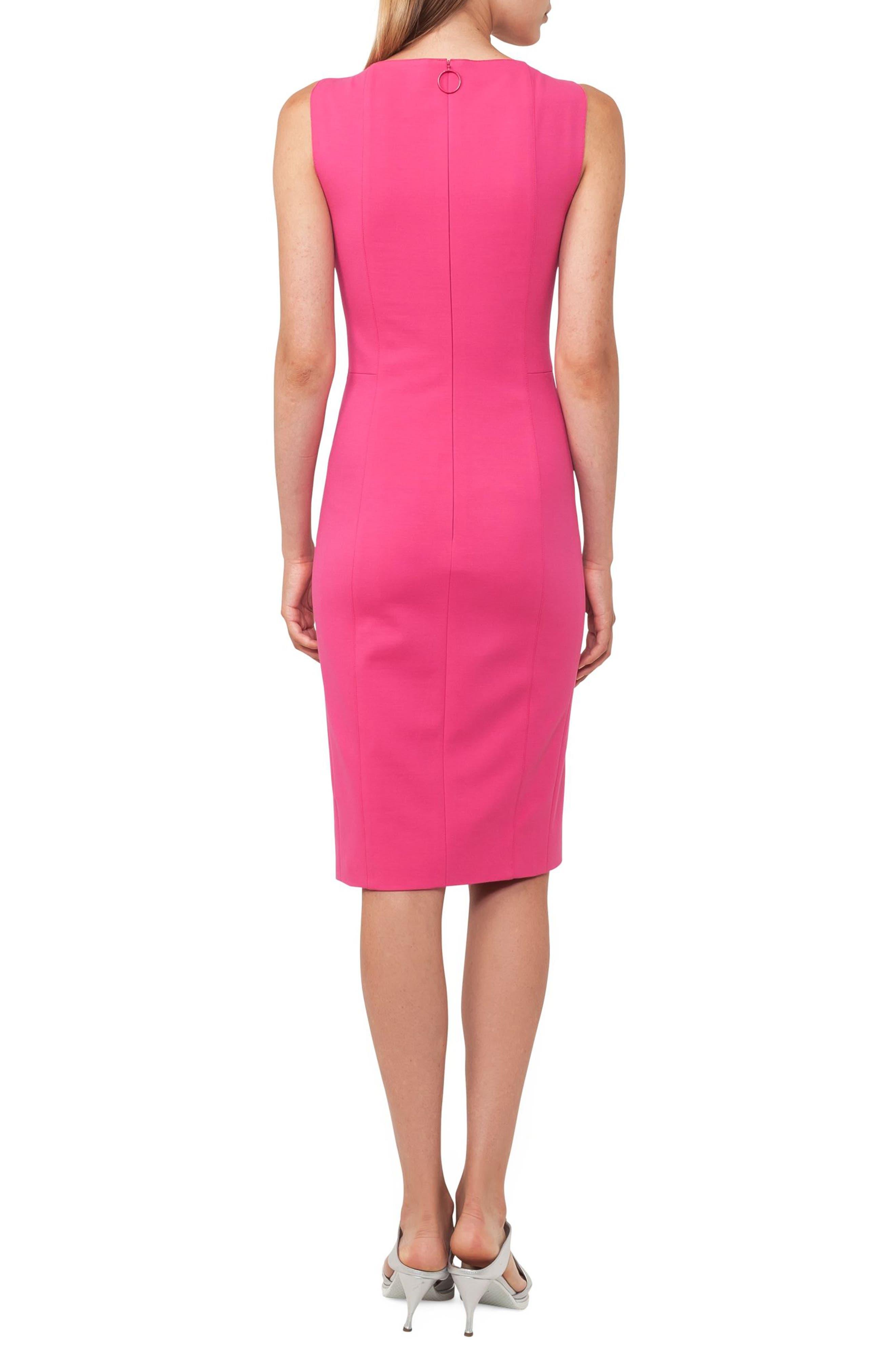 Cutout Dot Sheath Dress,                             Alternate thumbnail 2, color,                             650