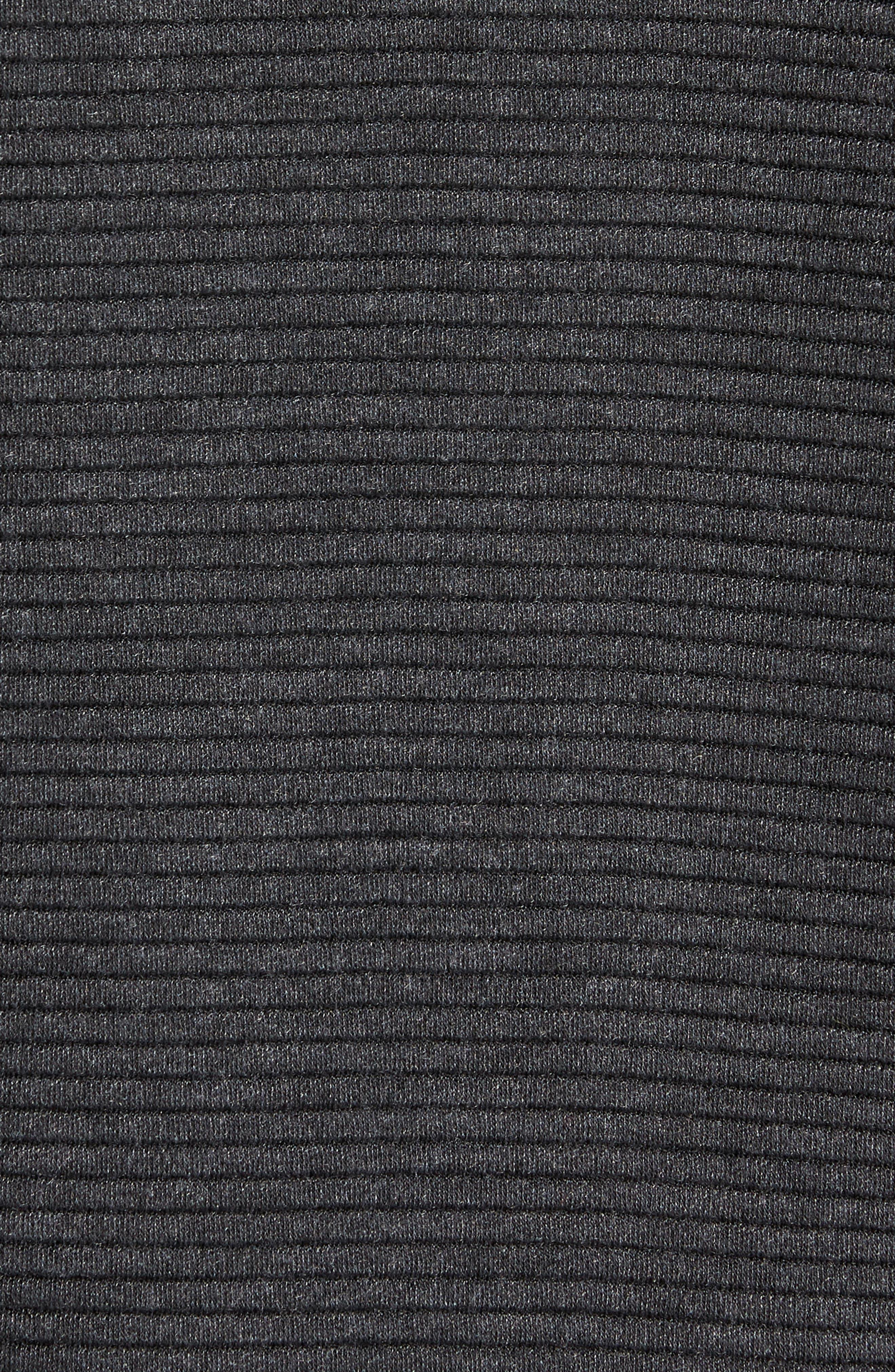 Taenite FZ High Neck Jacket,                             Alternate thumbnail 6, color,                             BLACK OTTOMAN STRIPE
