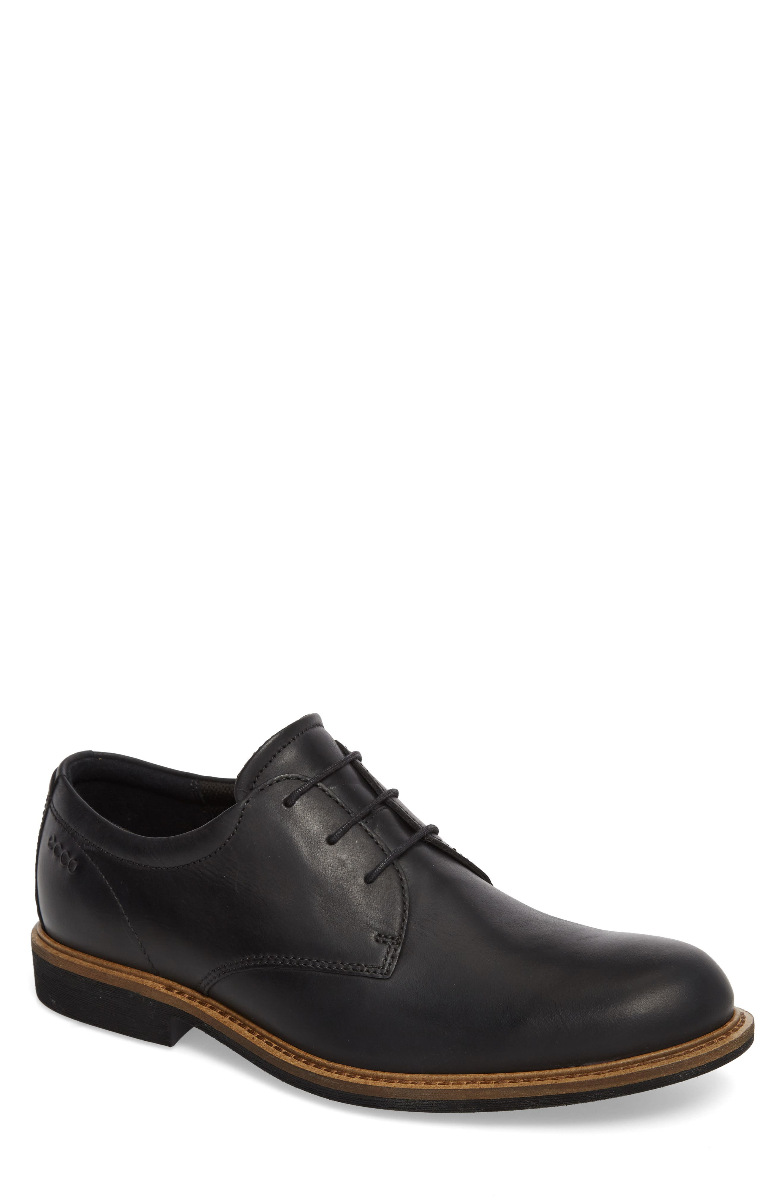 Findlay Plain Toe Derby,                         Main,                         color, BLACK LEATHER