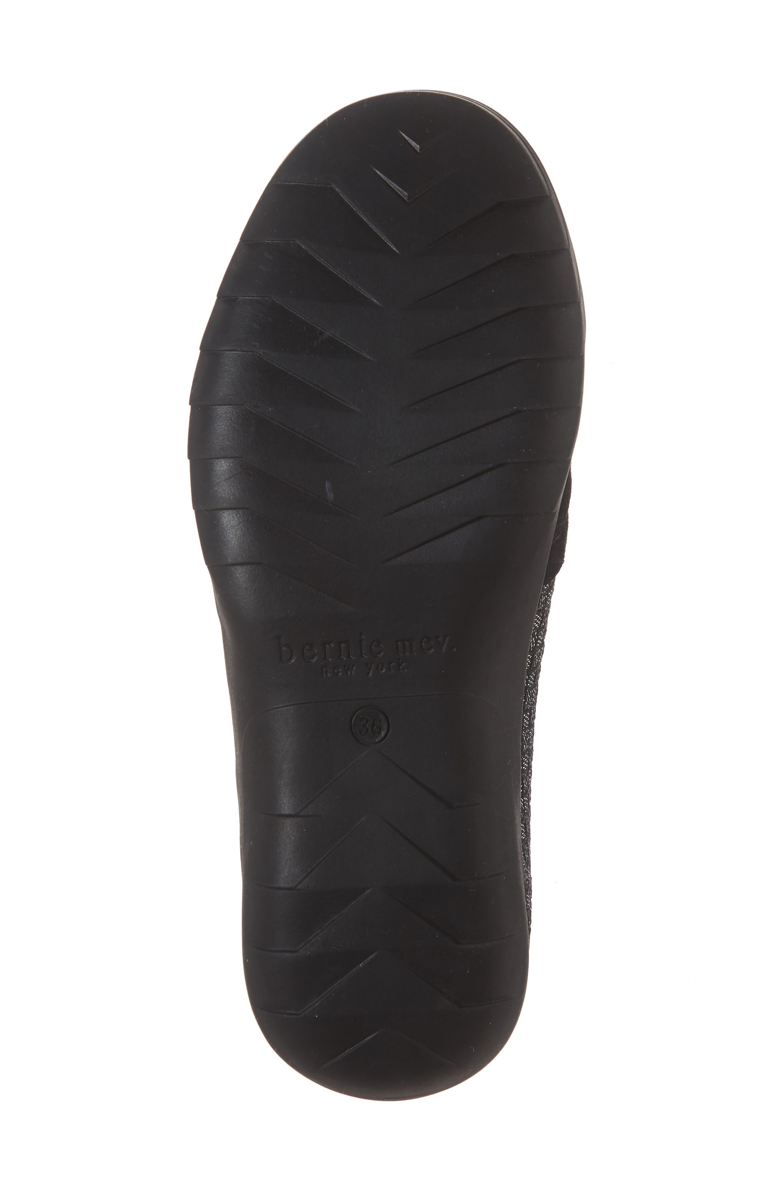 Swift Slip-On Sneaker,                             Alternate thumbnail 6, color,                             BLACK SHIMMER LEATHER