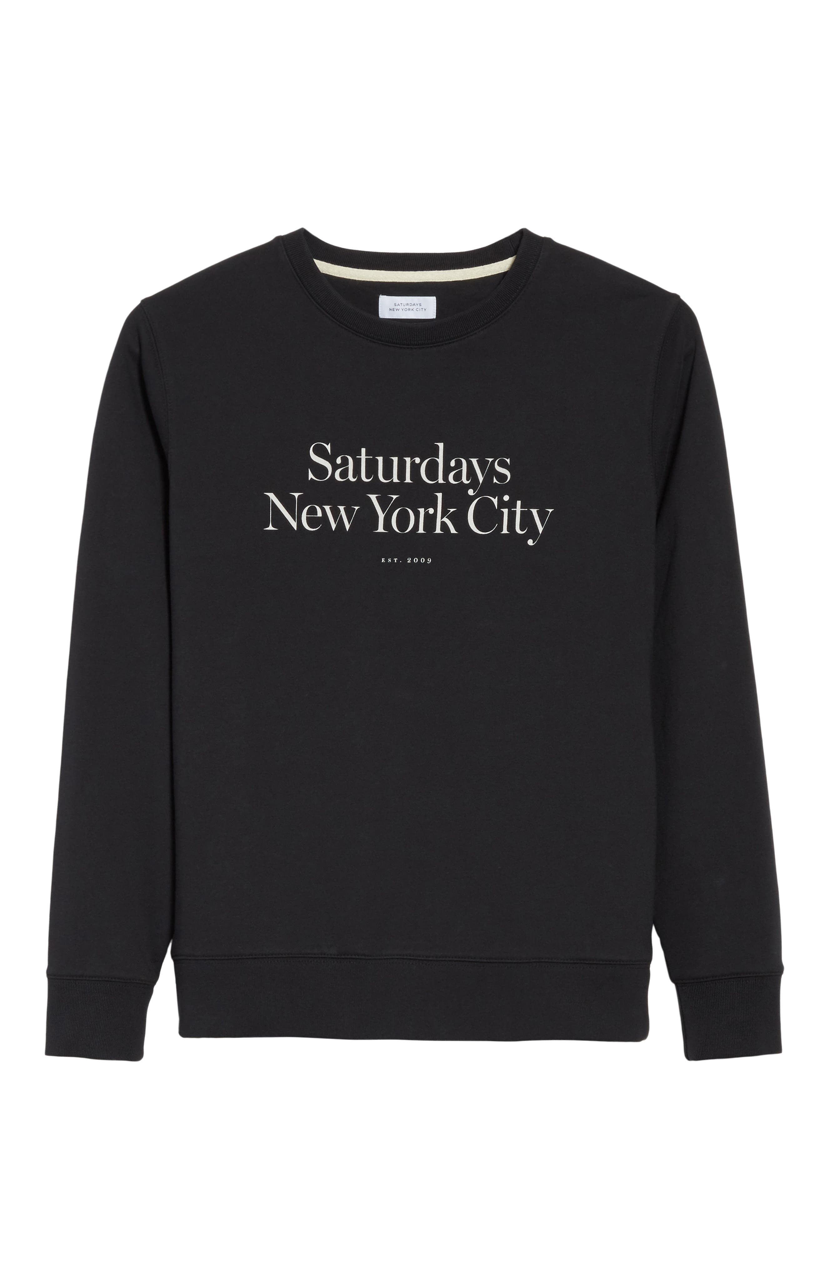 Bowery Miller Graphic Sweatshirt,                             Alternate thumbnail 6, color,                             001