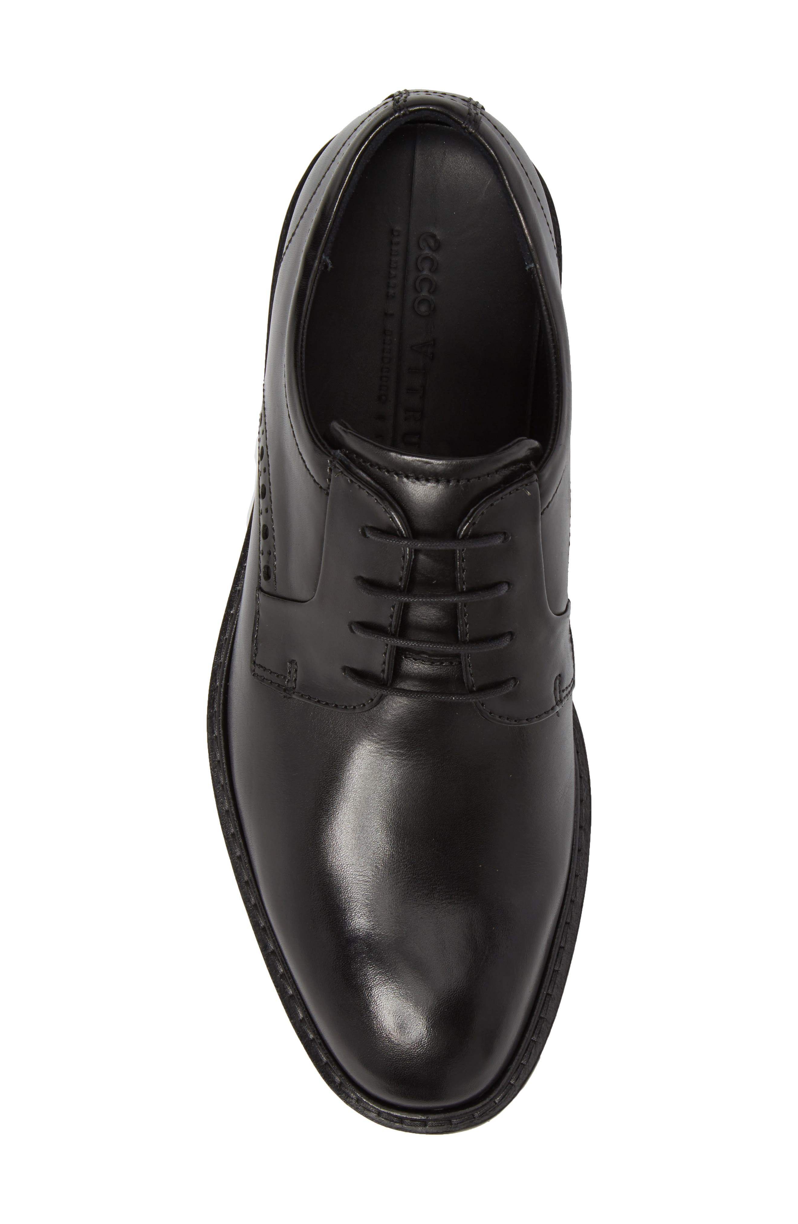 Vitrus I Plain Toe Derby,                             Alternate thumbnail 5, color,                             BLACK LEATHER