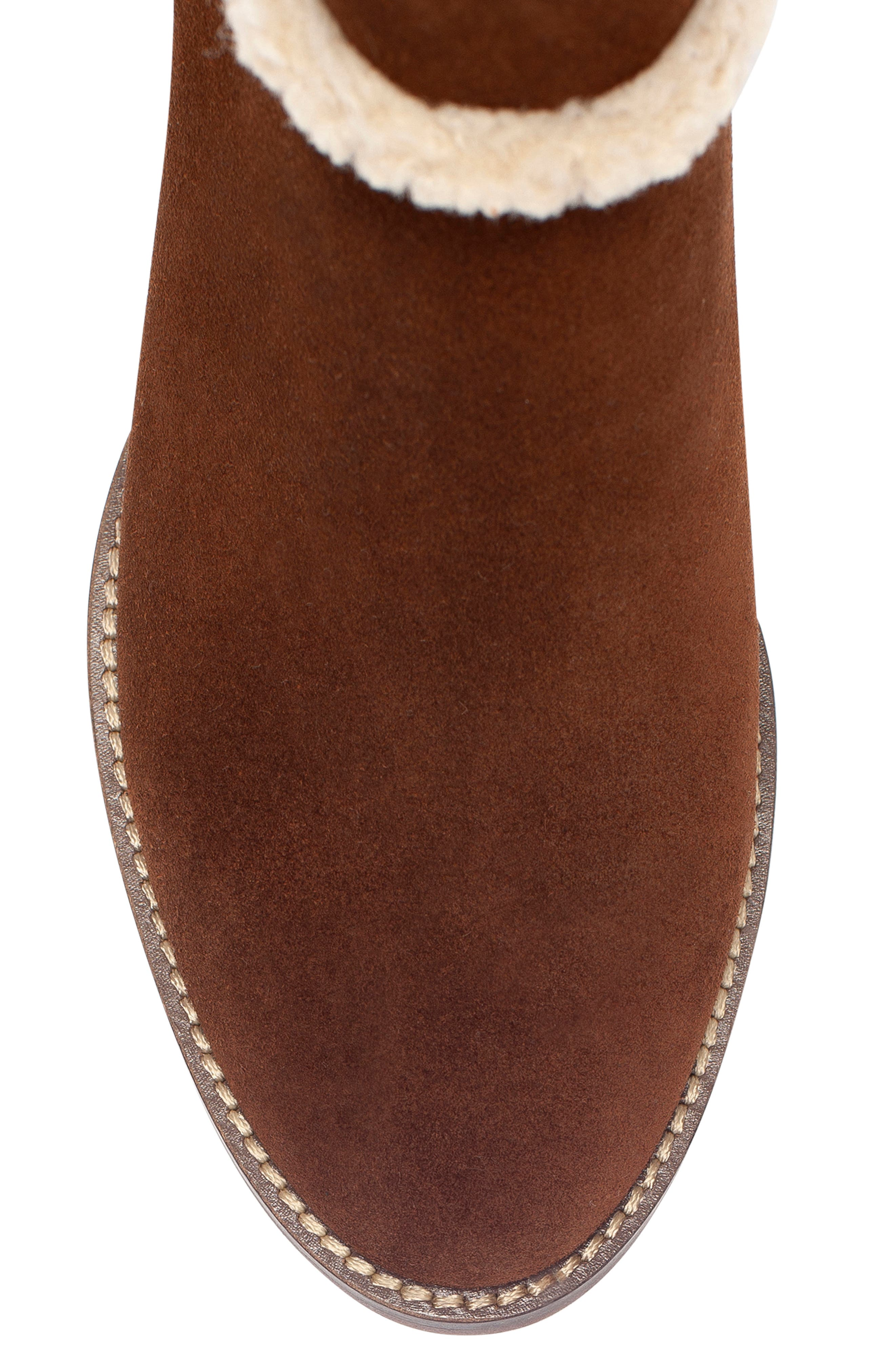 Netti Waterproof Bootie,                             Alternate thumbnail 4, color,                             CHESTNUT SUEDE