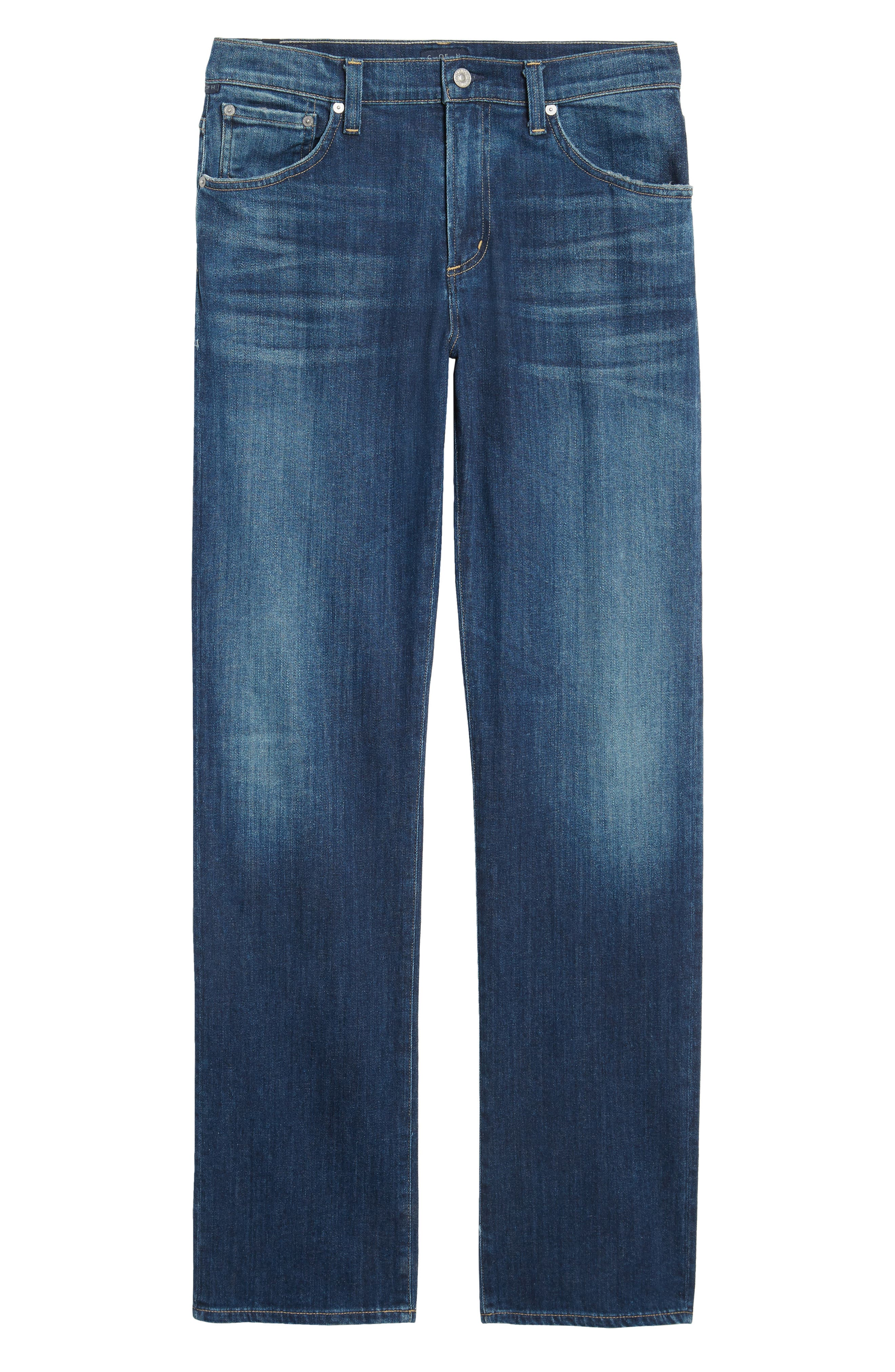 Sid Straight Fit Jeans,                             Alternate thumbnail 6, color,                             410