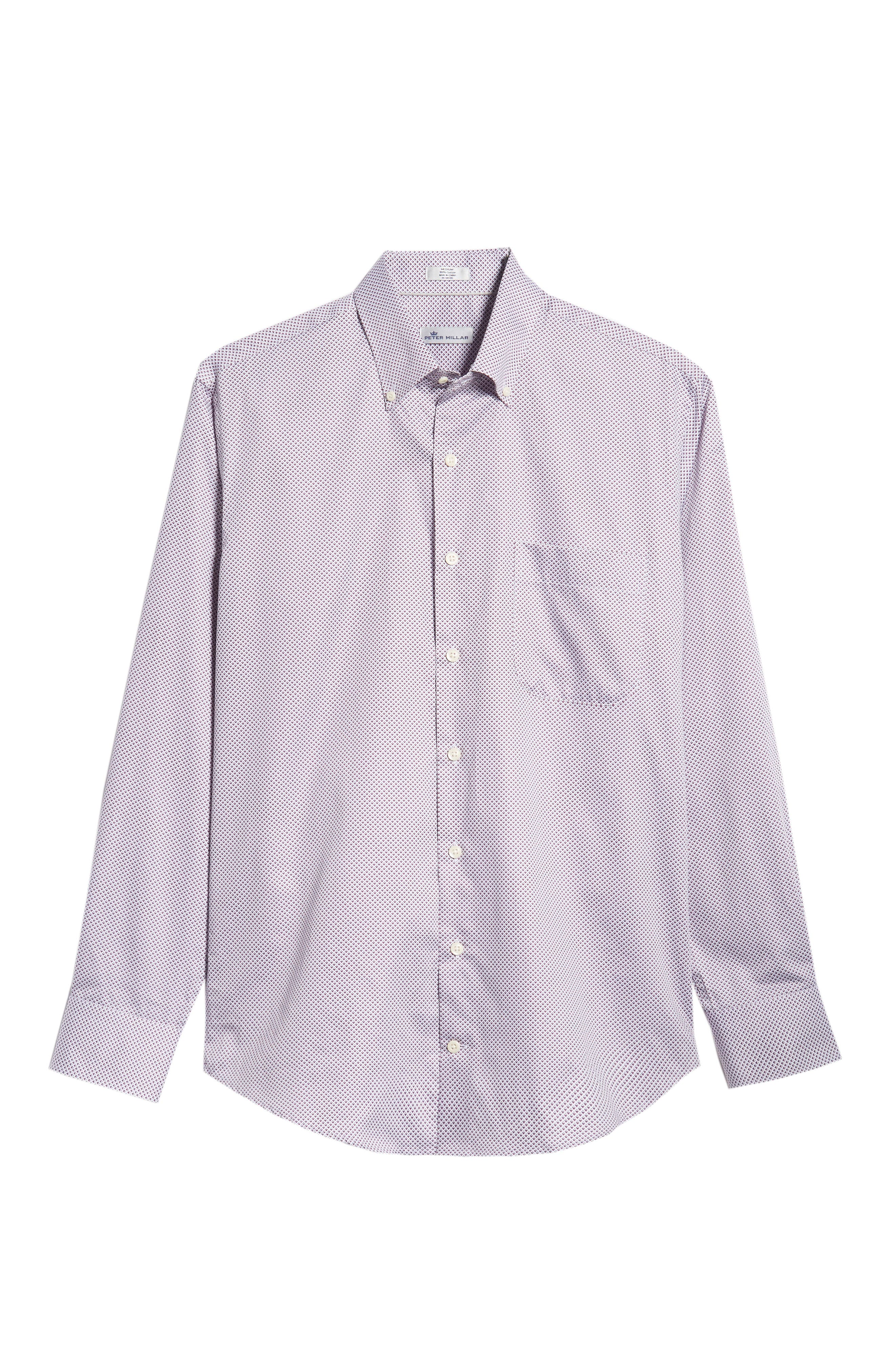 Diamond in the Rough Regular Fit Sport Shirt,                             Alternate thumbnail 5, color,                             WINTERBERRY